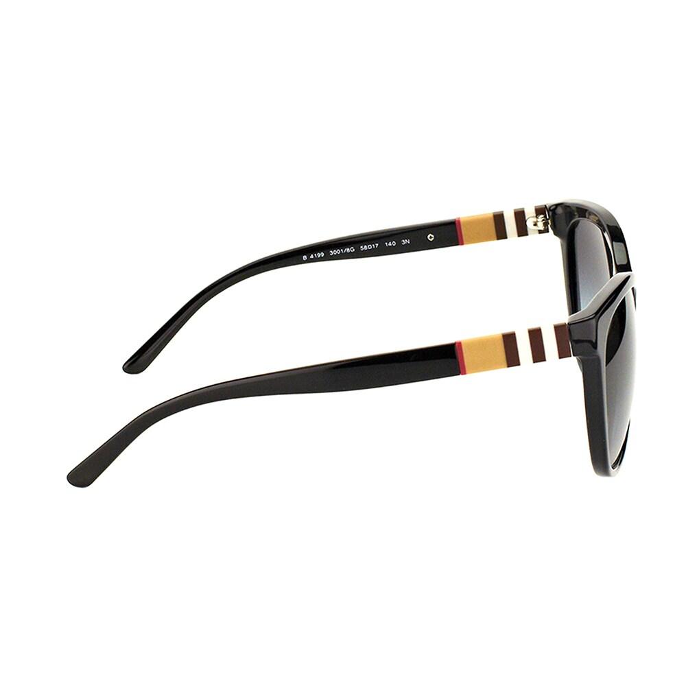 80c84e17b65 Shop Burberry BE 4199 30018G Black Plastic Cat-Eye Sunglasses Grey Gradient  Lens - Free Shipping Today - Overstock - 15915501
