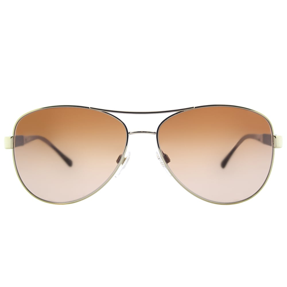 69528c62f0b1 Shop Burberry BE 3080 114513 Light Gold Metal Aviator Sunglasses Brown  Gradient Lens - On Sale - Free Shipping Today - Overstock - 15915508