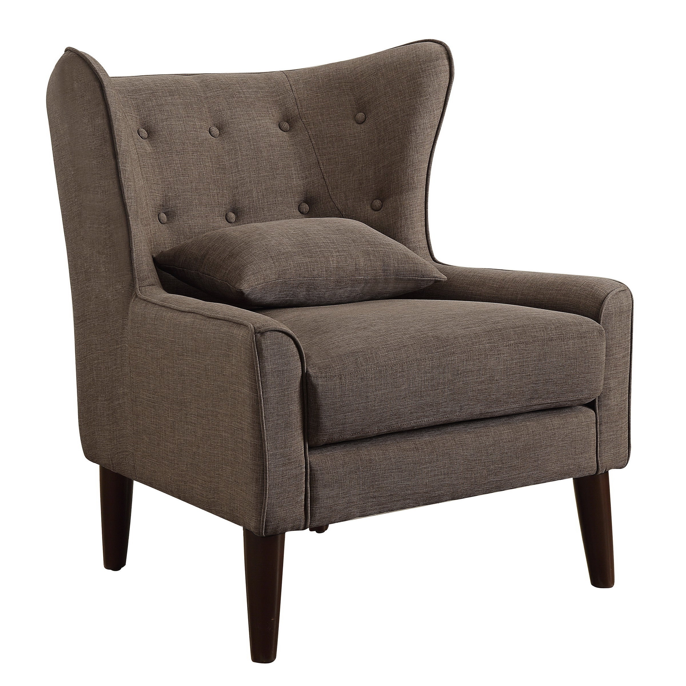 Shop Rosevera Liviana Tufted Wingback Chair With Back Cushion   On Sale    Free Shipping Today   Overstock.com   15923898