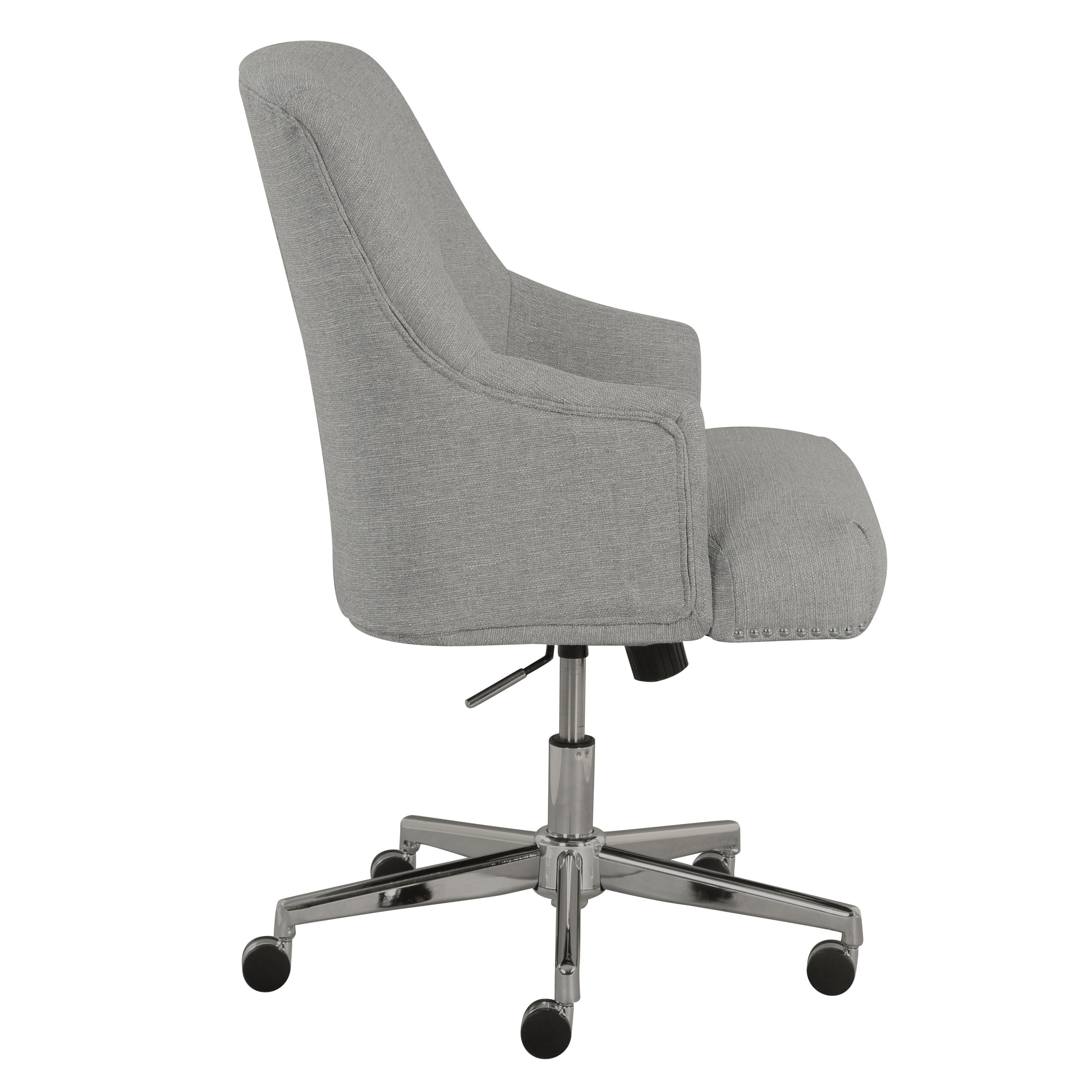 shop serta leighton light grey fabric home office chair free