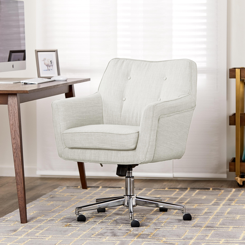 Serta ashland ivory home office chair