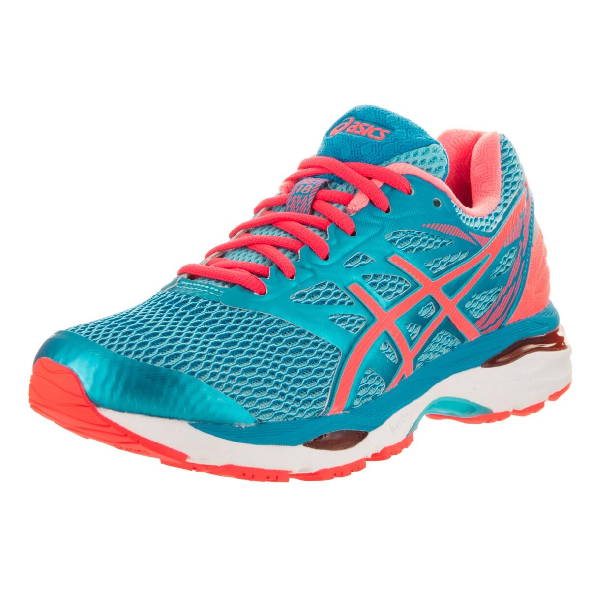 Shop Asics Women s Gel-Cumulus 18 Blue Running Shoes - Free Shipping ... 619ee4570c