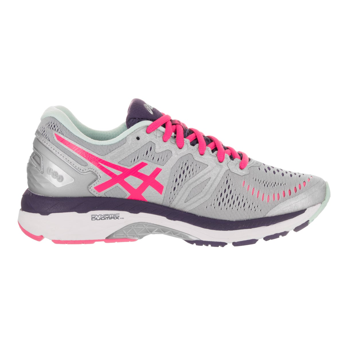 9028227e0491 Shop Asics Women s Gel-Kayano 23 Silver Running Shoes - Free Shipping Today  - Overstock - 15924488