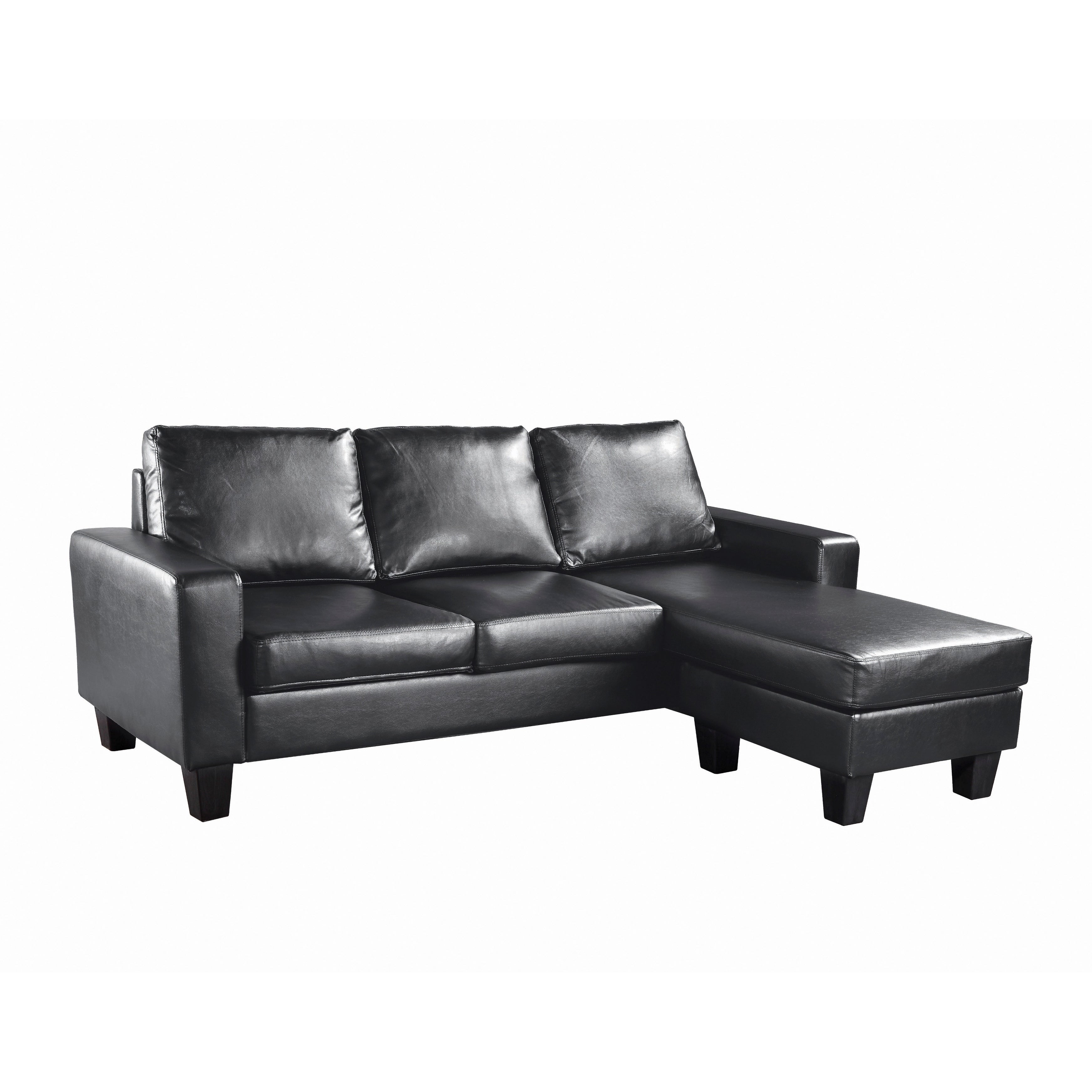 Lyke Home Reversible Apartment Sofa Chaise Free Shipping Today 15925545