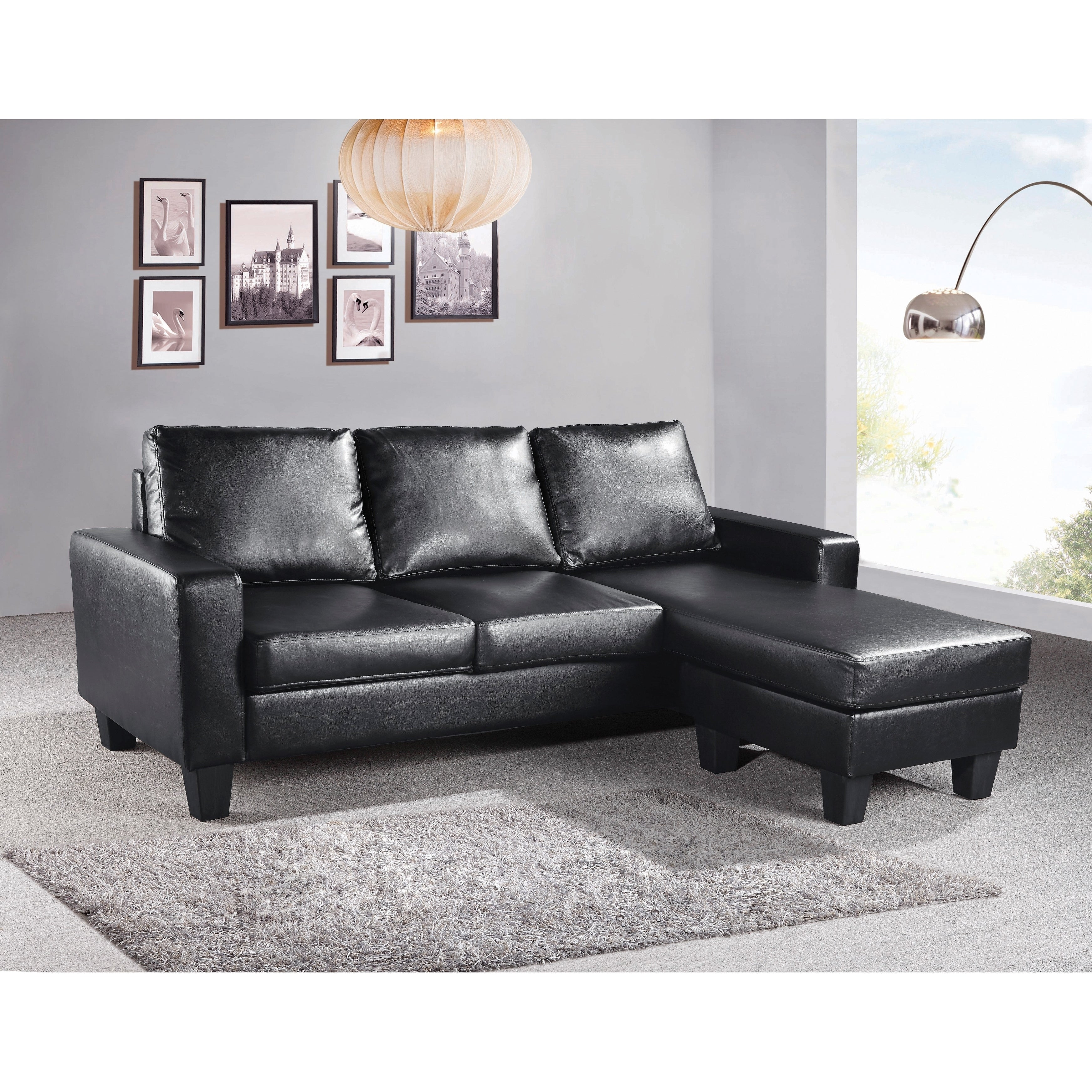 Lyke Home Reversible Apartment Sofa Chaise On Free Shipping Today 15925545