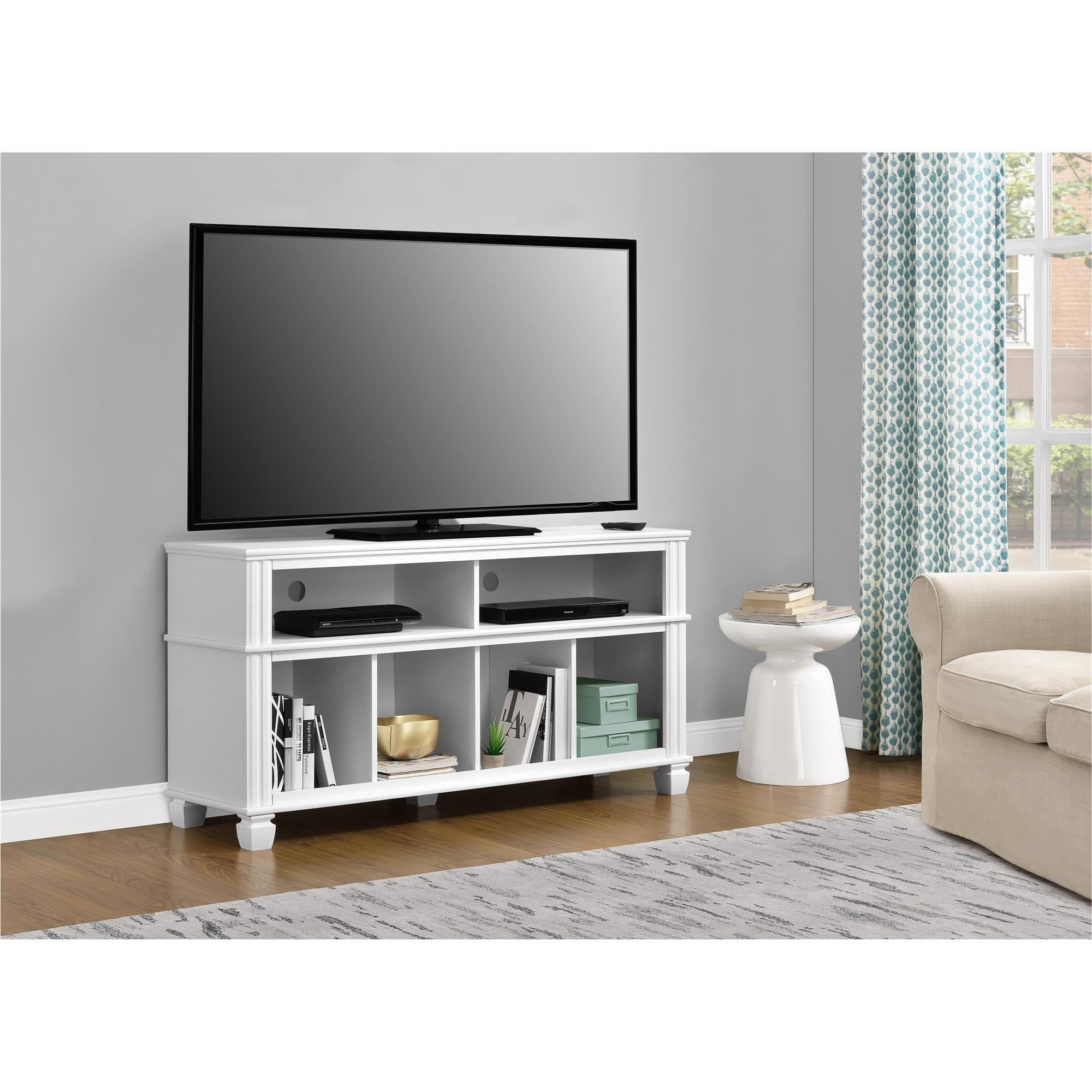 Enjoyable Ameriwood Home Woodcrest White 55 Inch Tv Stand Home Interior And Landscaping Mentranervesignezvosmurscom