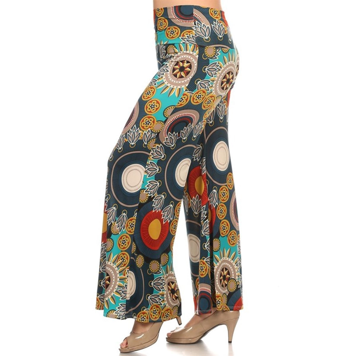 1909ecba594 Shop Women s Plus Size Medallion Floral Palazzo Pants - On Sale - Free  Shipping On Orders Over  45 - Overstock.com - 15926160