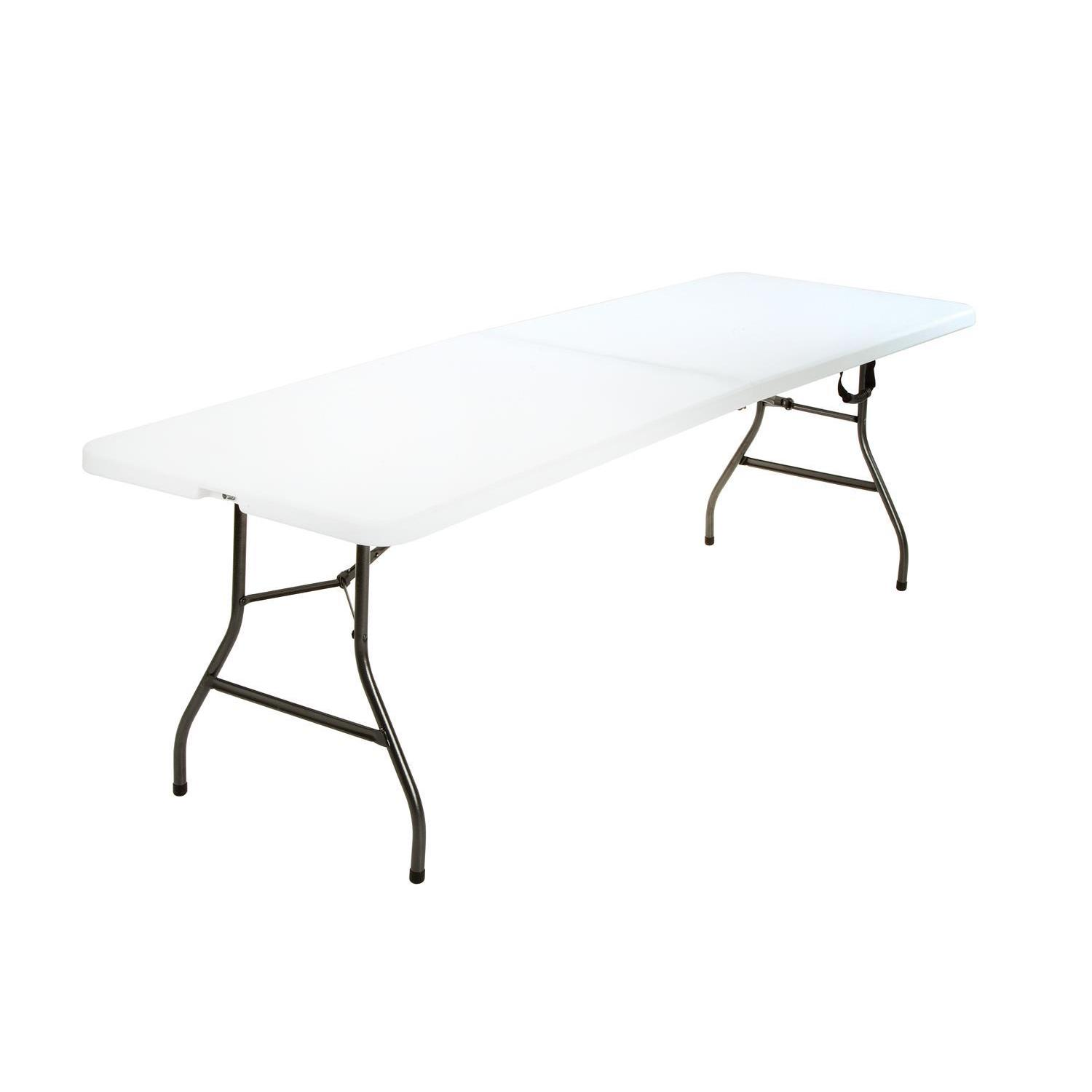 Attirant Shop COSCO Deluxe 8 Foot X 30 Inch Fold In Half Blow Molded Folding Table    Free Shipping Today   Overstock.com   15926255