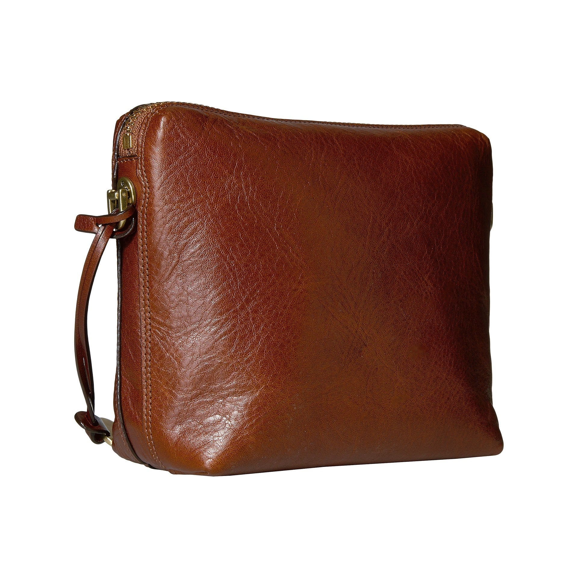 93e649d54b0a Shop Fossil Maya Brown Leather Crossbody Handbag - Ships To Canada -  Overstock - 15942793