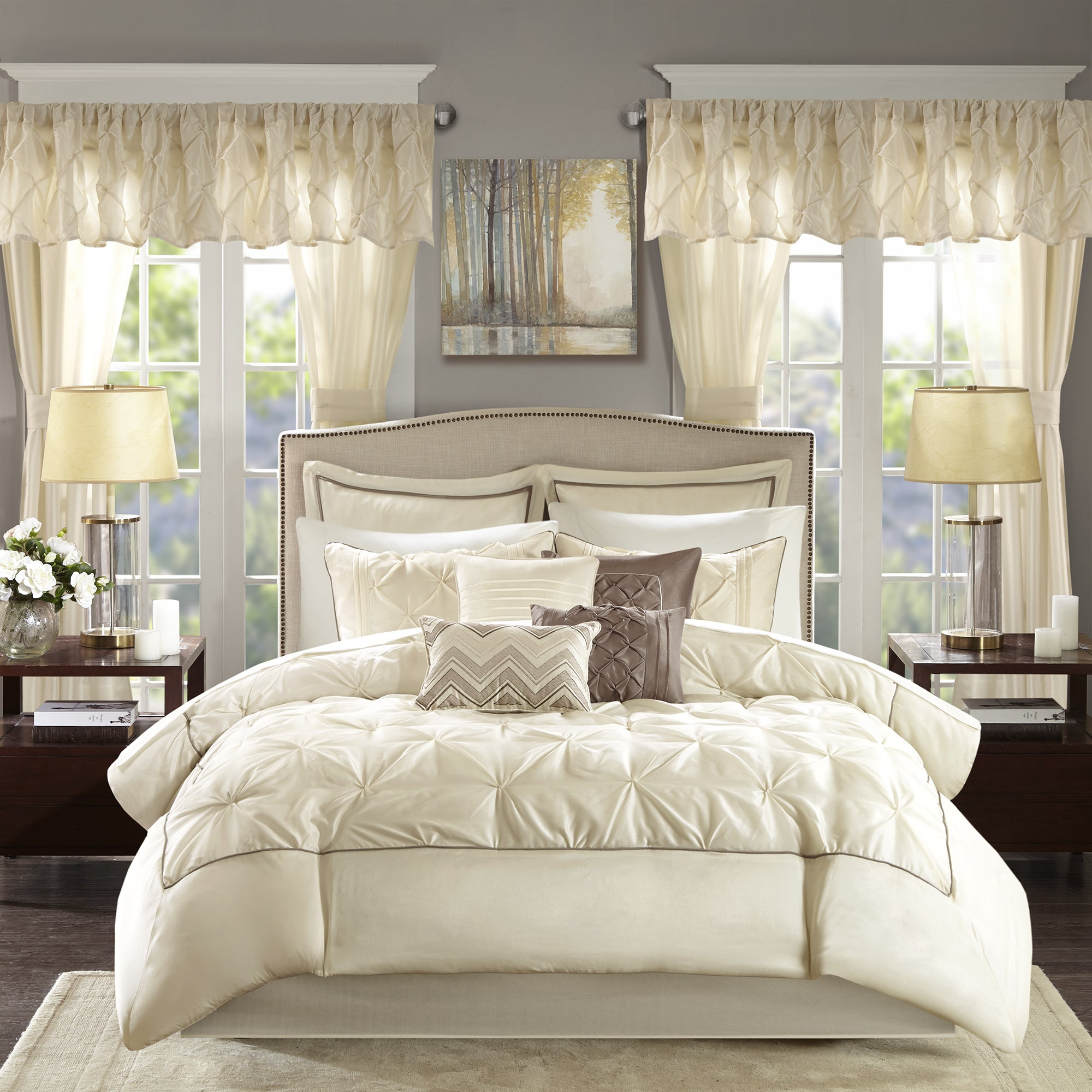 set overstock shipping panels taupe in today essentials product mushroom bag included bedding madison and window loretta piece a bath room free with park sheet