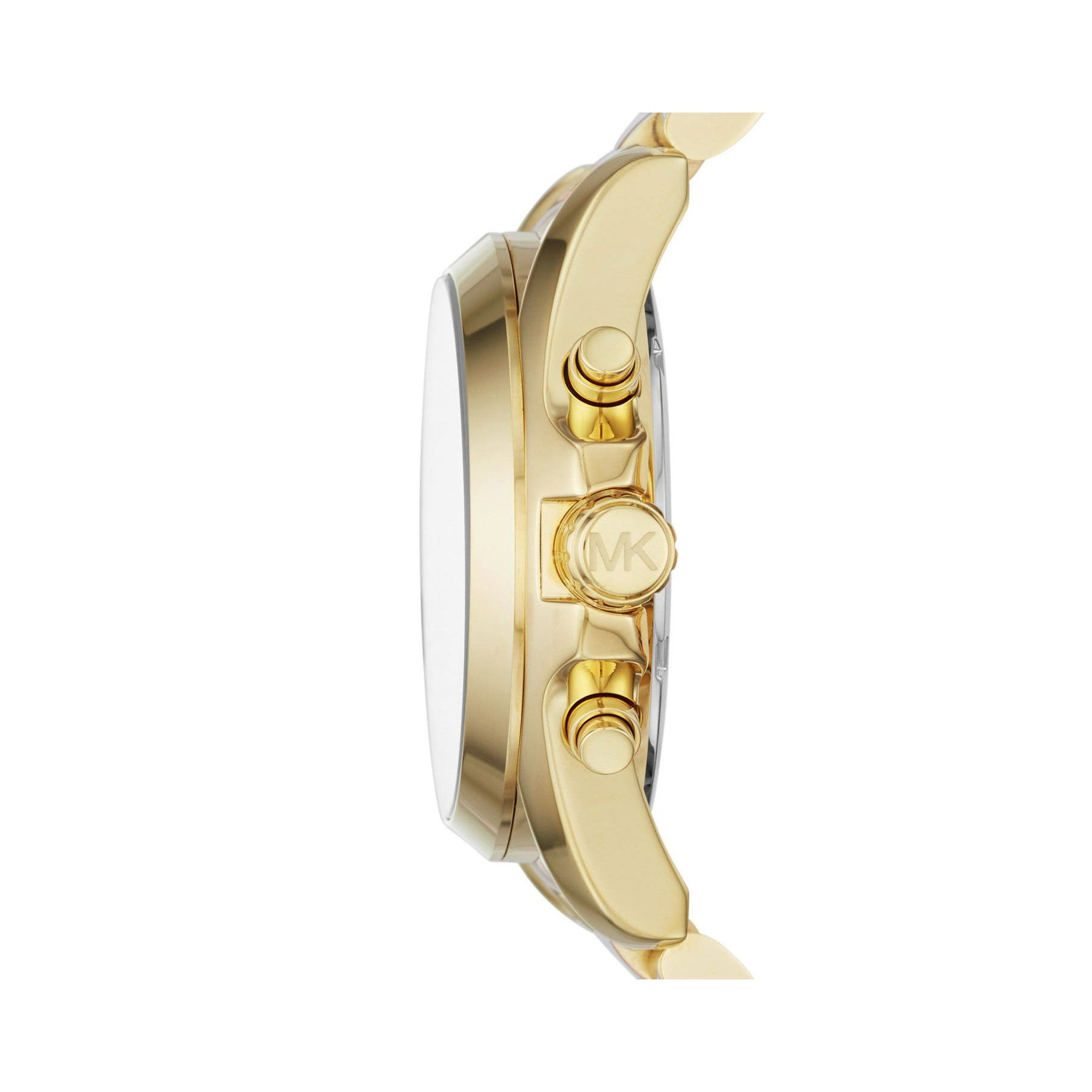 346fcab58e92 Shop Michael Kors Women s MK6359 Bradshaw Chronograph Stainless Steel Watch  - Gold - Free Shipping Today - Overstock - 15949813