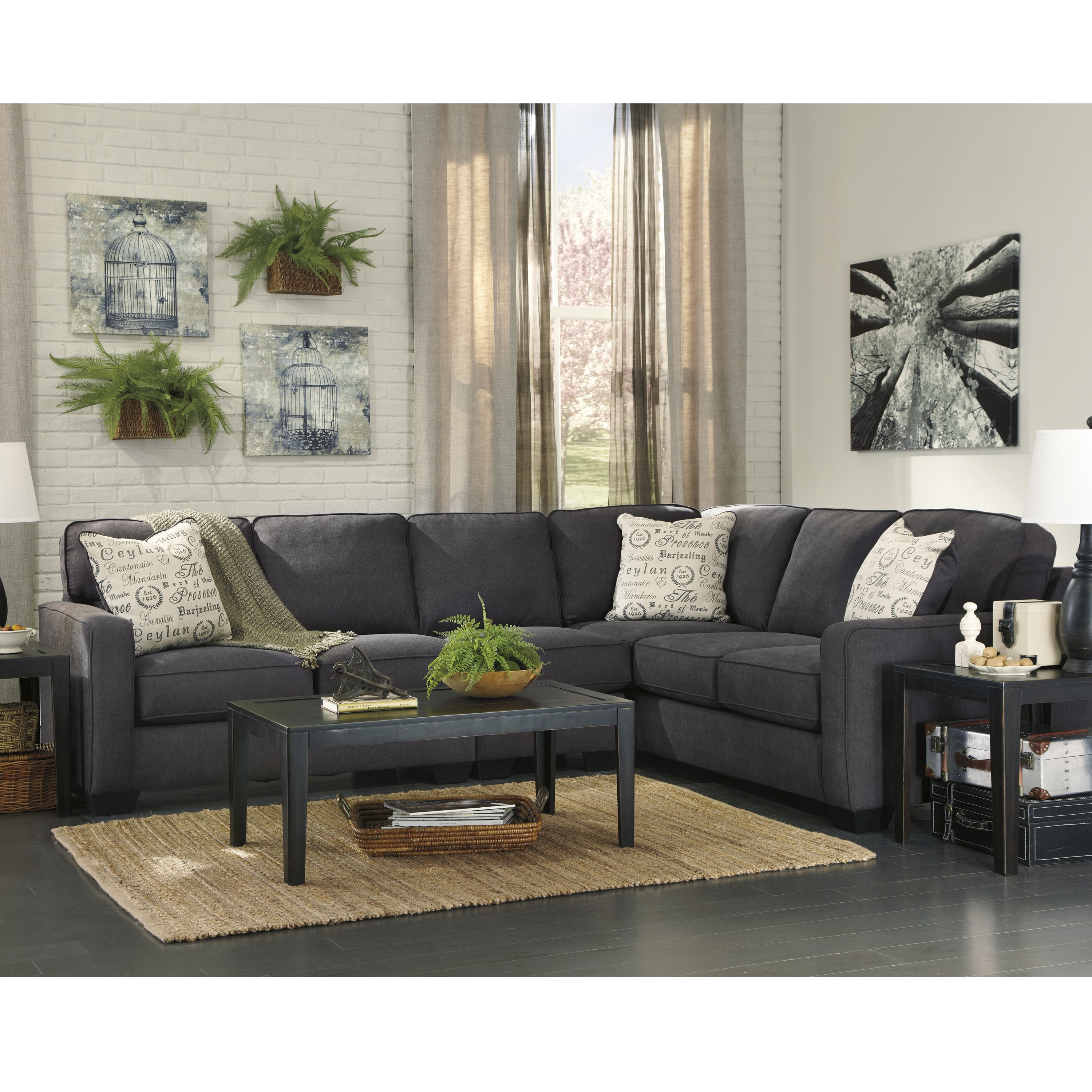 Signature Design By Ashley Alenya 3 Piece Raf Sofa Sectional In Microfiber Free Shipping Today 15949880