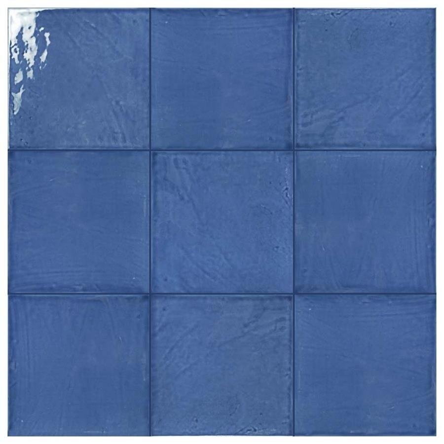 SomerTile 7.875x7.875-inch Borough Giorno Azul Ceramic Wall Tile (25 ...