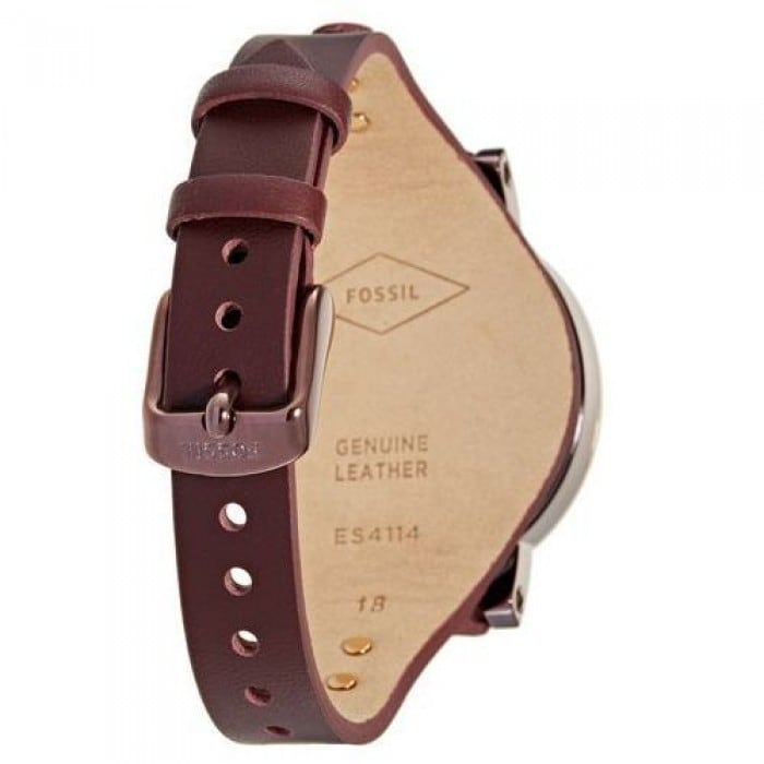 Shop Fossil Women's ES4114 Chronograph Boyfriend Burgundy Dial Burgundy Leather Watch - Red - Free Shipping
