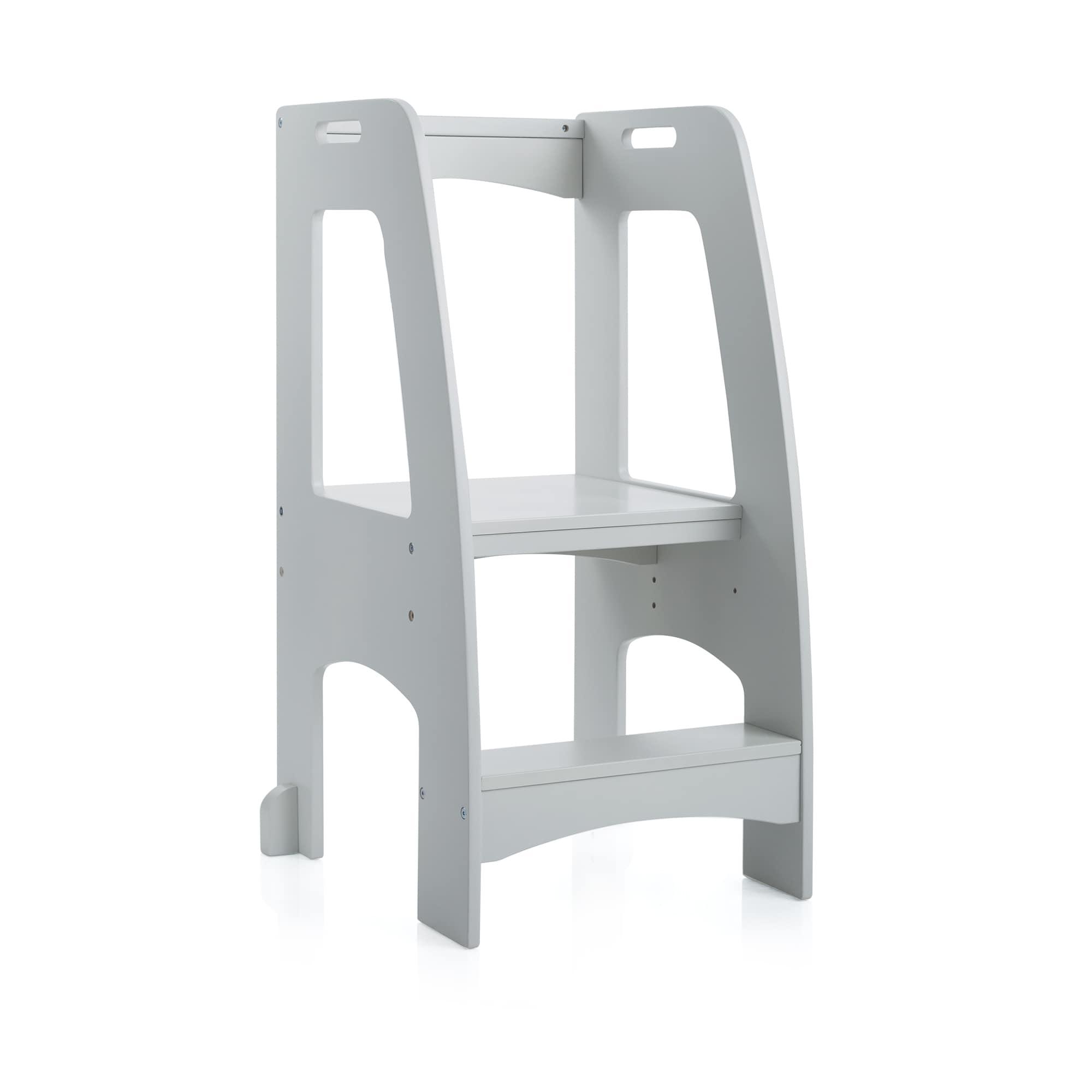 Guidecraft Step-up Kitchen Helper Grey Stepstool - Free Shipping ...