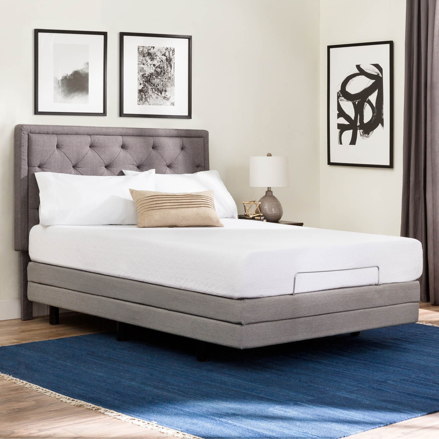 brookside deluxe adjustable bed base queen free shipping today