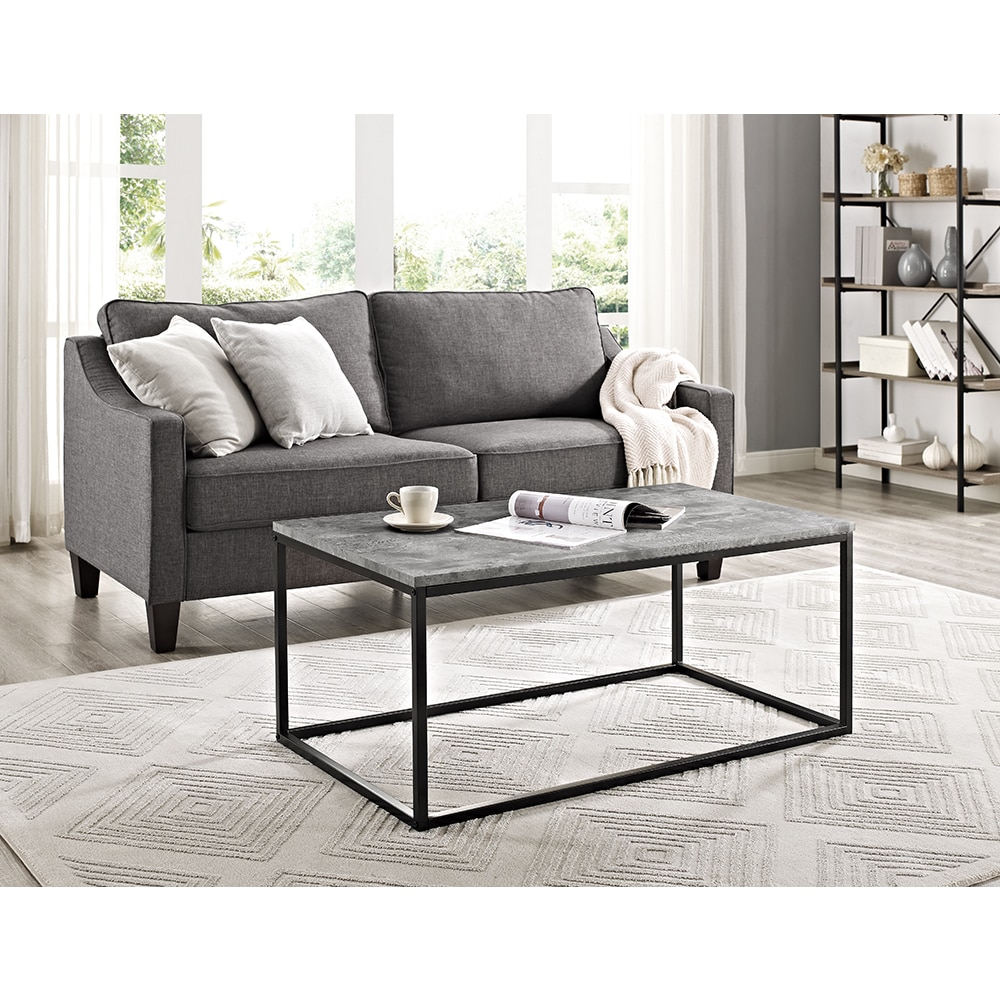 Shop 42 metal coffee table 42 x 24 x 18h free shipping today overstock com 15951452