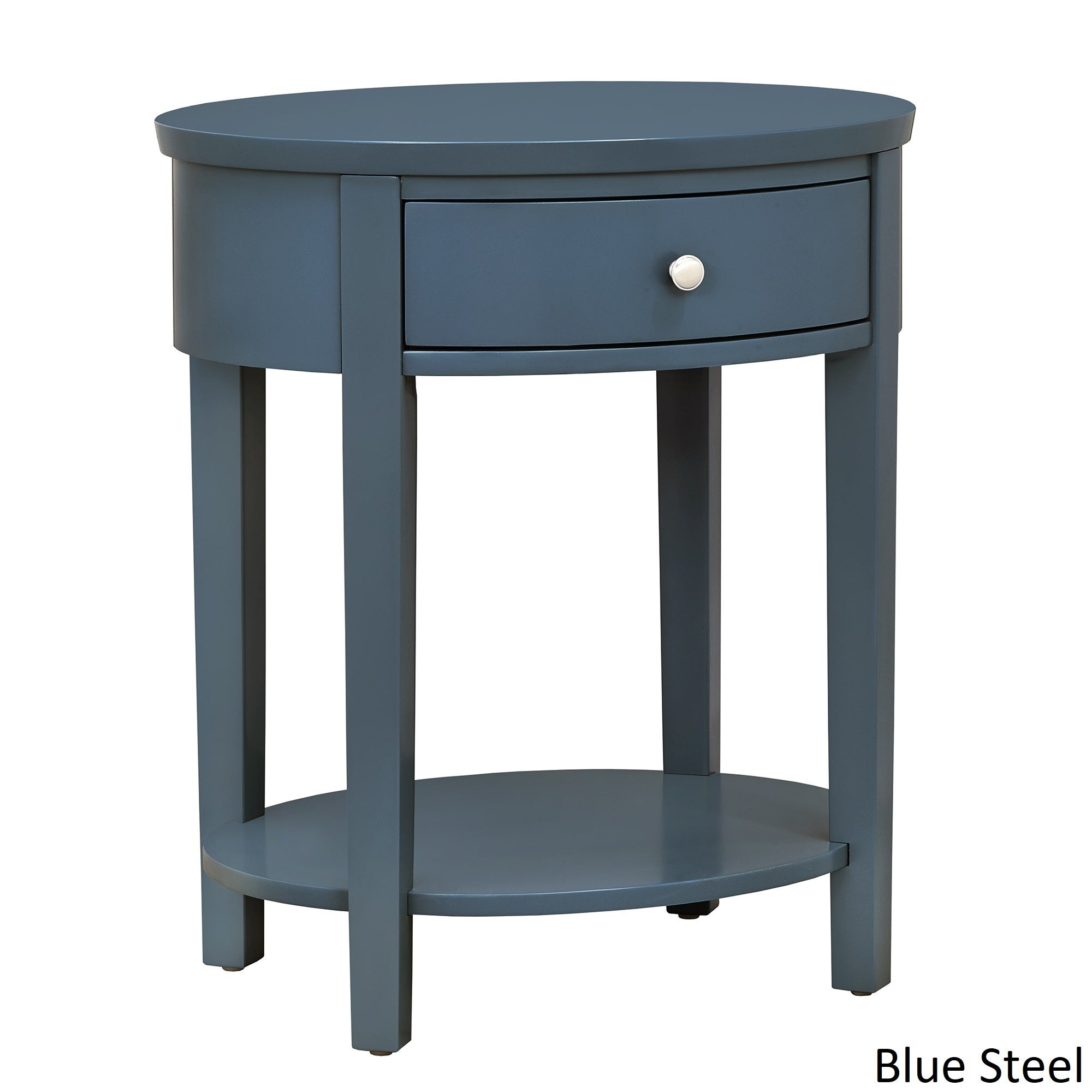 Superbe Shop Fillmore II 1 Drawer Oval Wood Shelf Accent End Table INSPIRE Q Modern    Free Shipping Today   Overstock.com   15951695