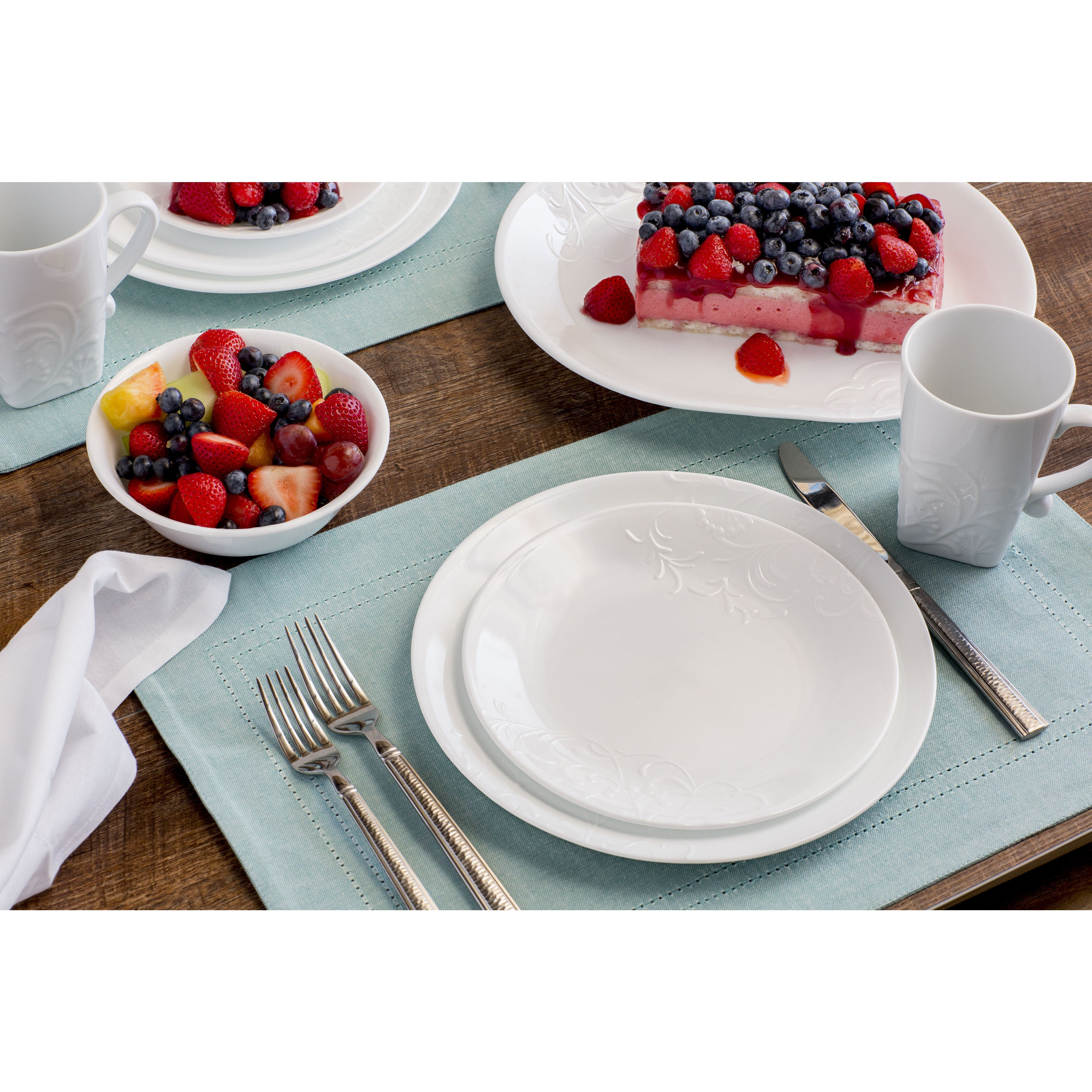 Shop Corelle Boutique Cherish Round 42-pc Dinnerware Set - On Sale - Free Shipping Today - Overstock.com - 15951783  sc 1 st  Overstock & Shop Corelle Boutique Cherish Round 42-pc Dinnerware Set - On Sale ...