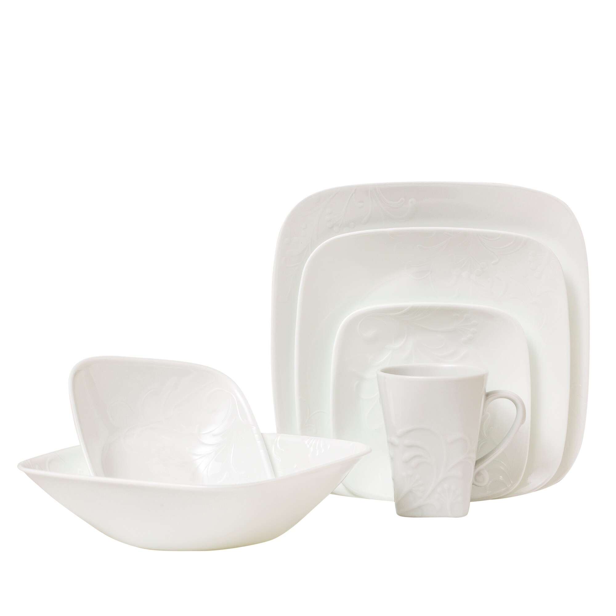Shop Corelle Boutique Cherish Square 42-pc Dinnerware Set - Free Shipping  Today - Overstock.com - 15951789