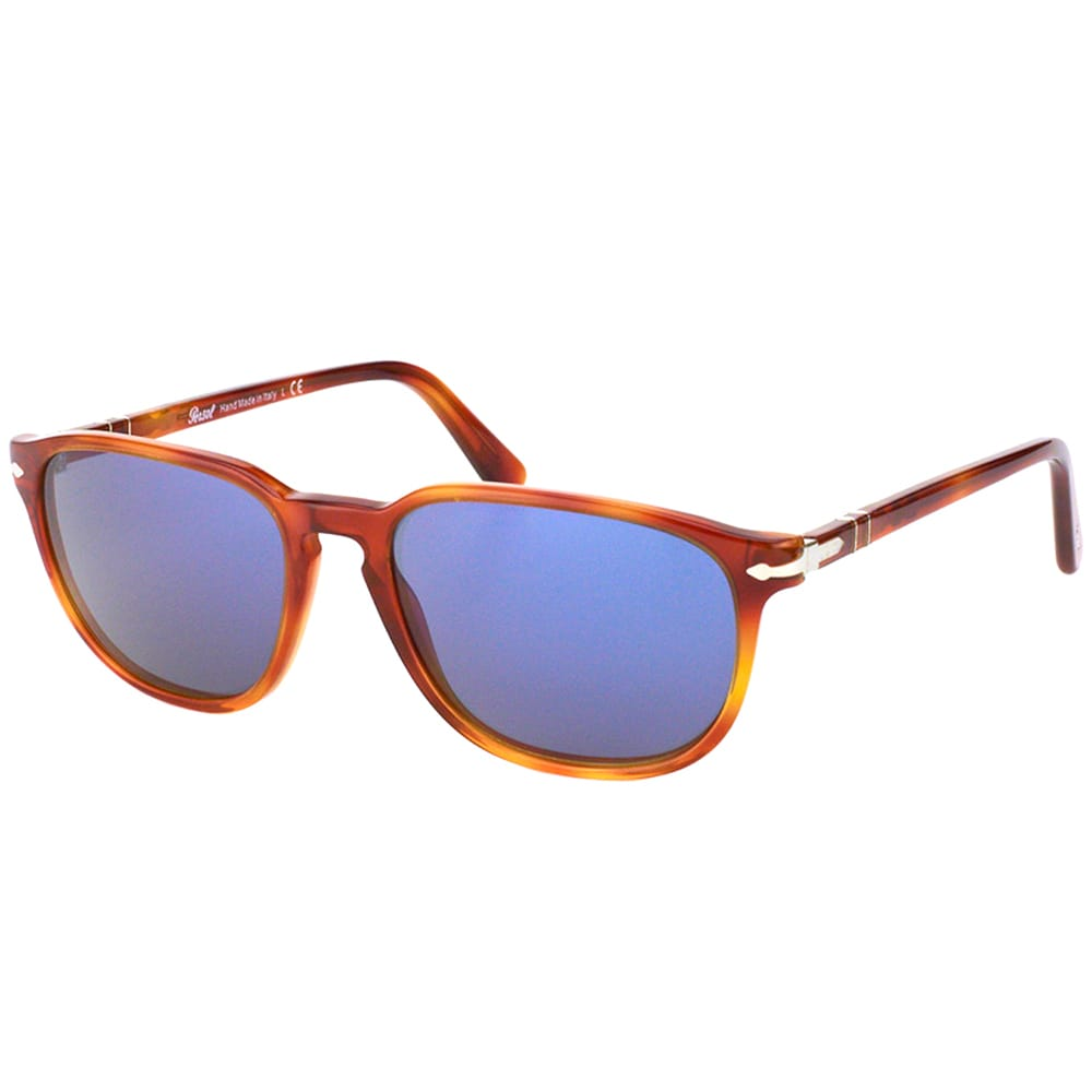 afbfafd73b4a Shop Persol PO 3019 96/56 Terra Di Siena Plastic Square Sunglasses Crystal  Blue Lens - Free Shipping Today - Overstock - 15957811