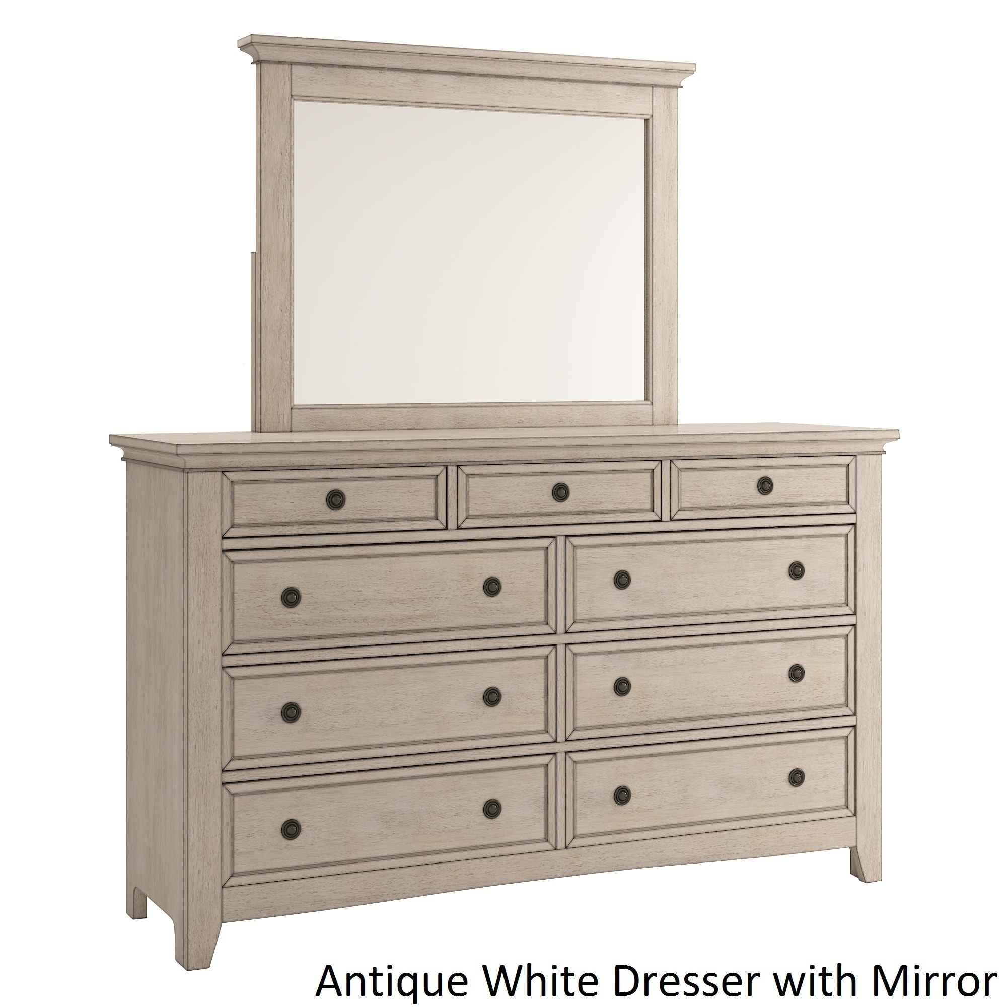 Shop Ediline 9 Drawer Wood Modular Storage Dresser And Mirror By