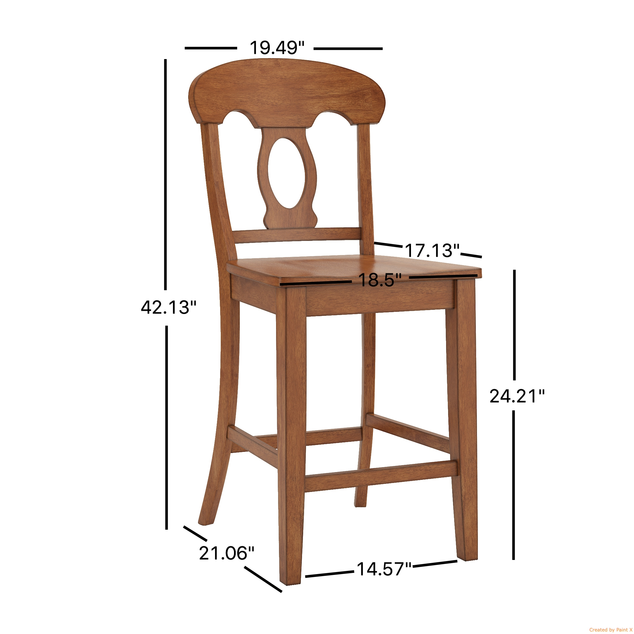 Eleanor Napoleon Back Wood Counter Chair (Set of 2) by iNSPIRE Q Classic -  Free Shipping Today - Overstock.com - 22359773