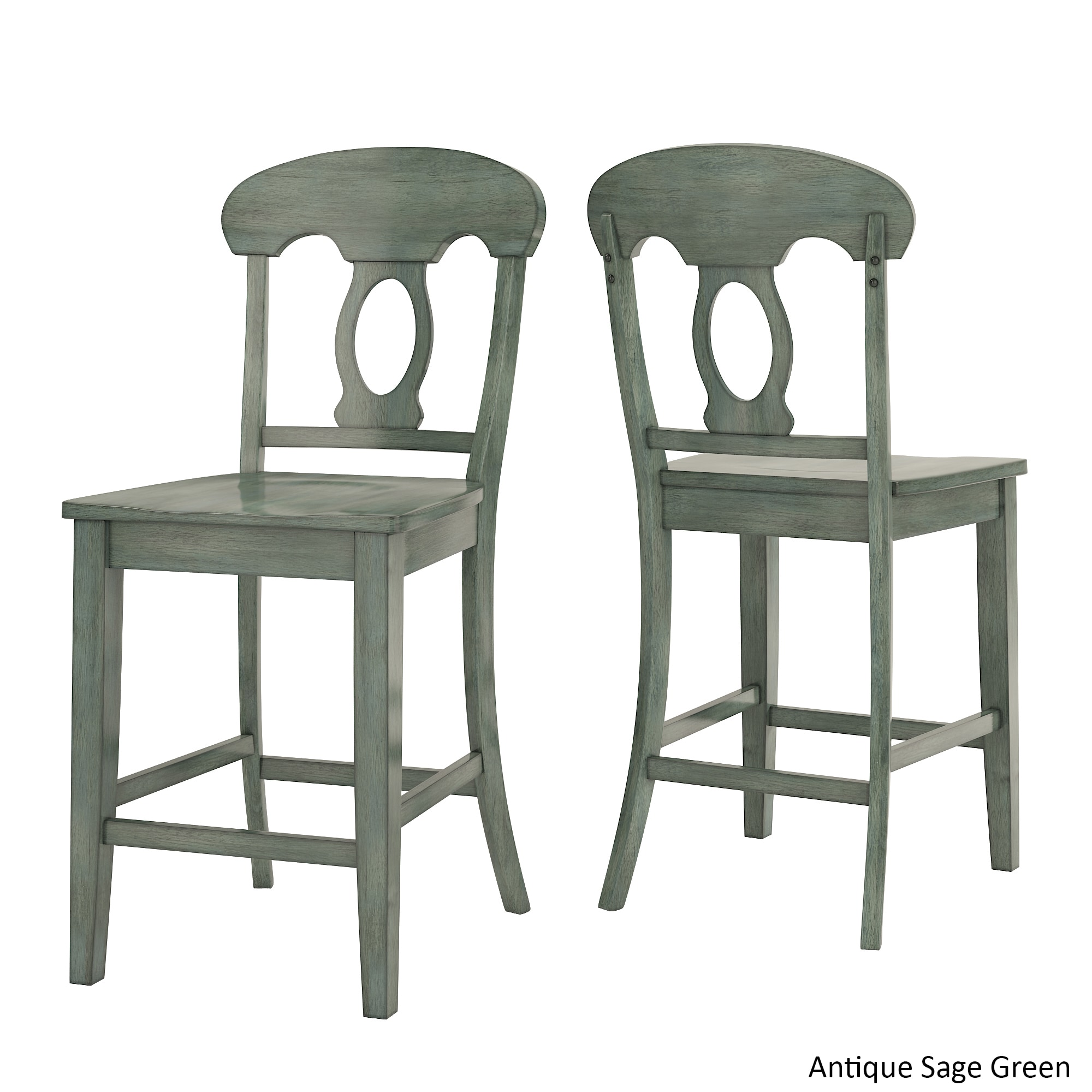 Shop Eleanor Napoleon Back Wood Counter Chair (Set Of 2) By INSPIRE Q  Classic   Free Shipping Today   Overstock.com   15961682