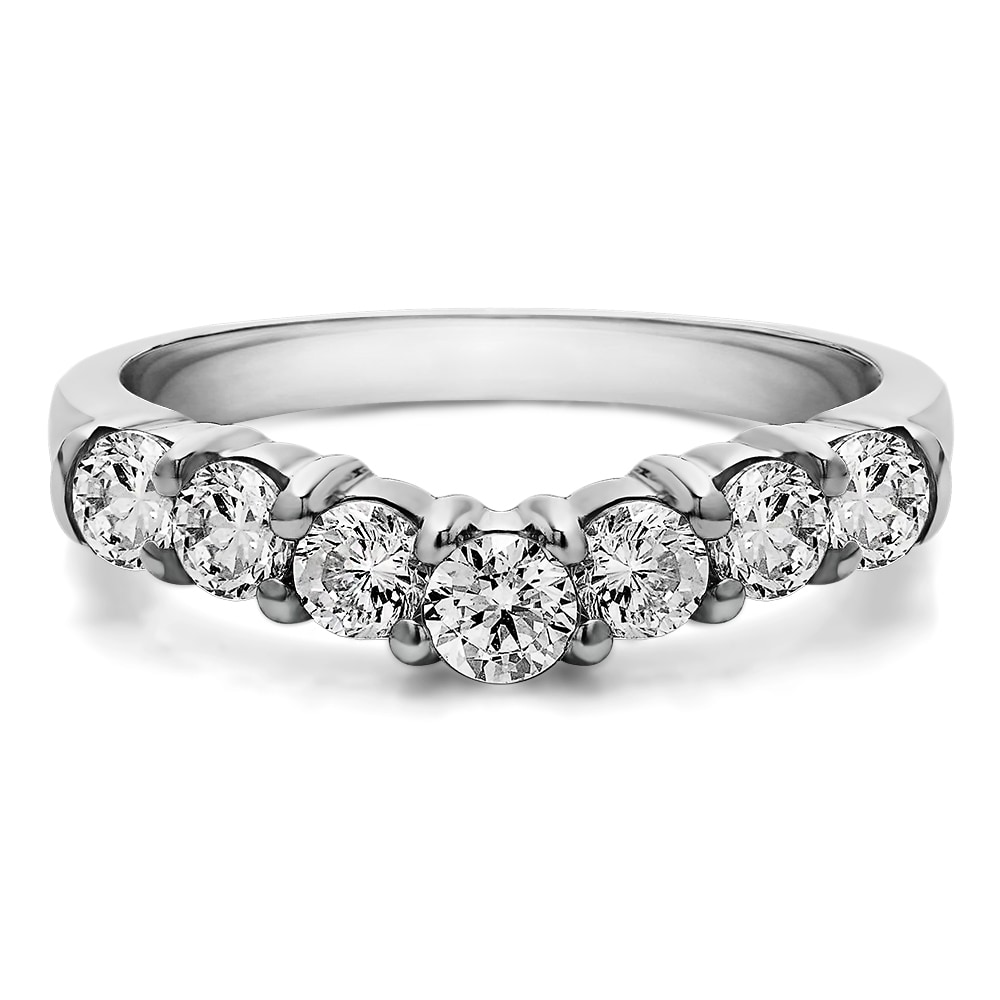 Sterling Silver Slightly Contoured Classic Style Wedding Ring