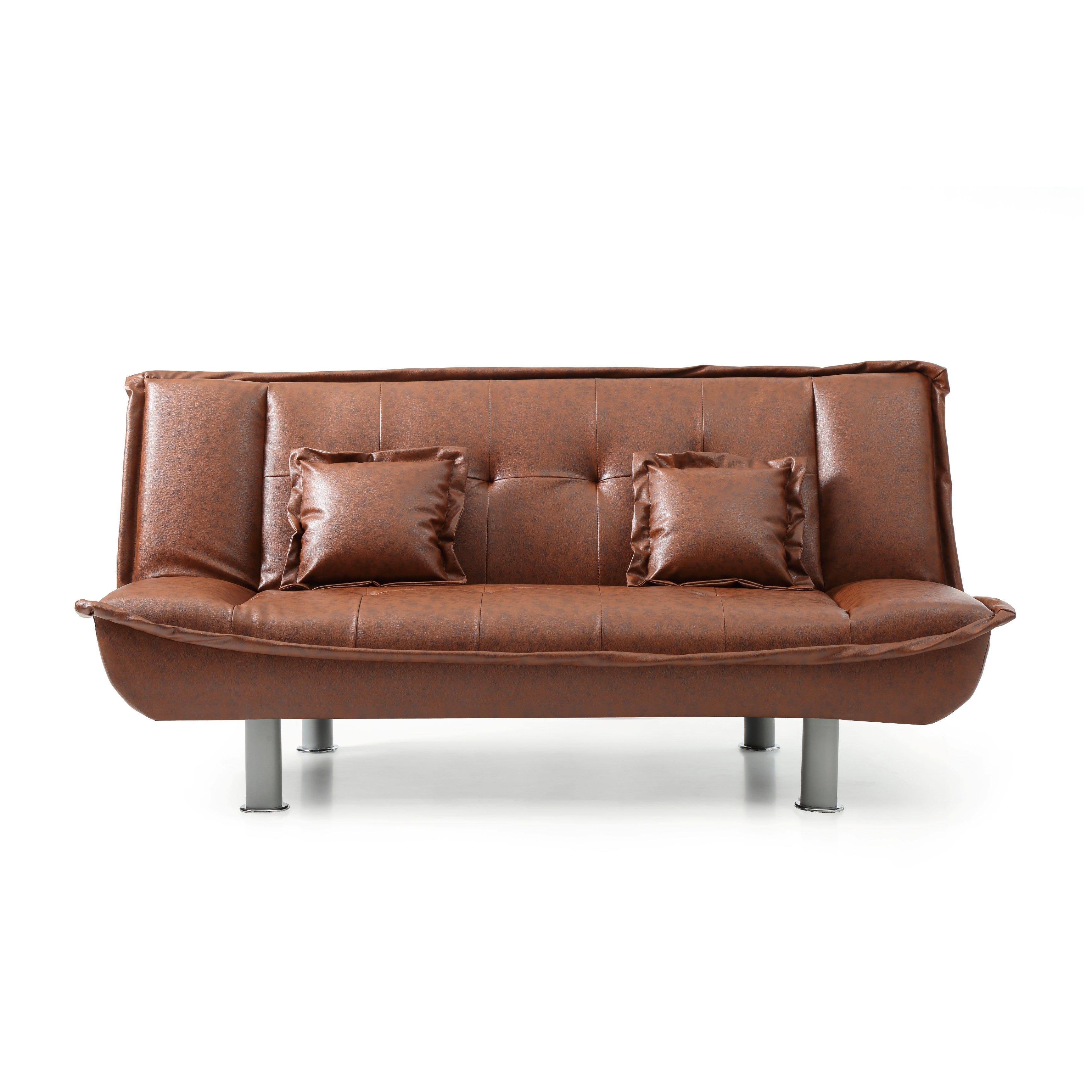 Shop Lyke Home Faux Leather Sofa Bed Free Shipping Today