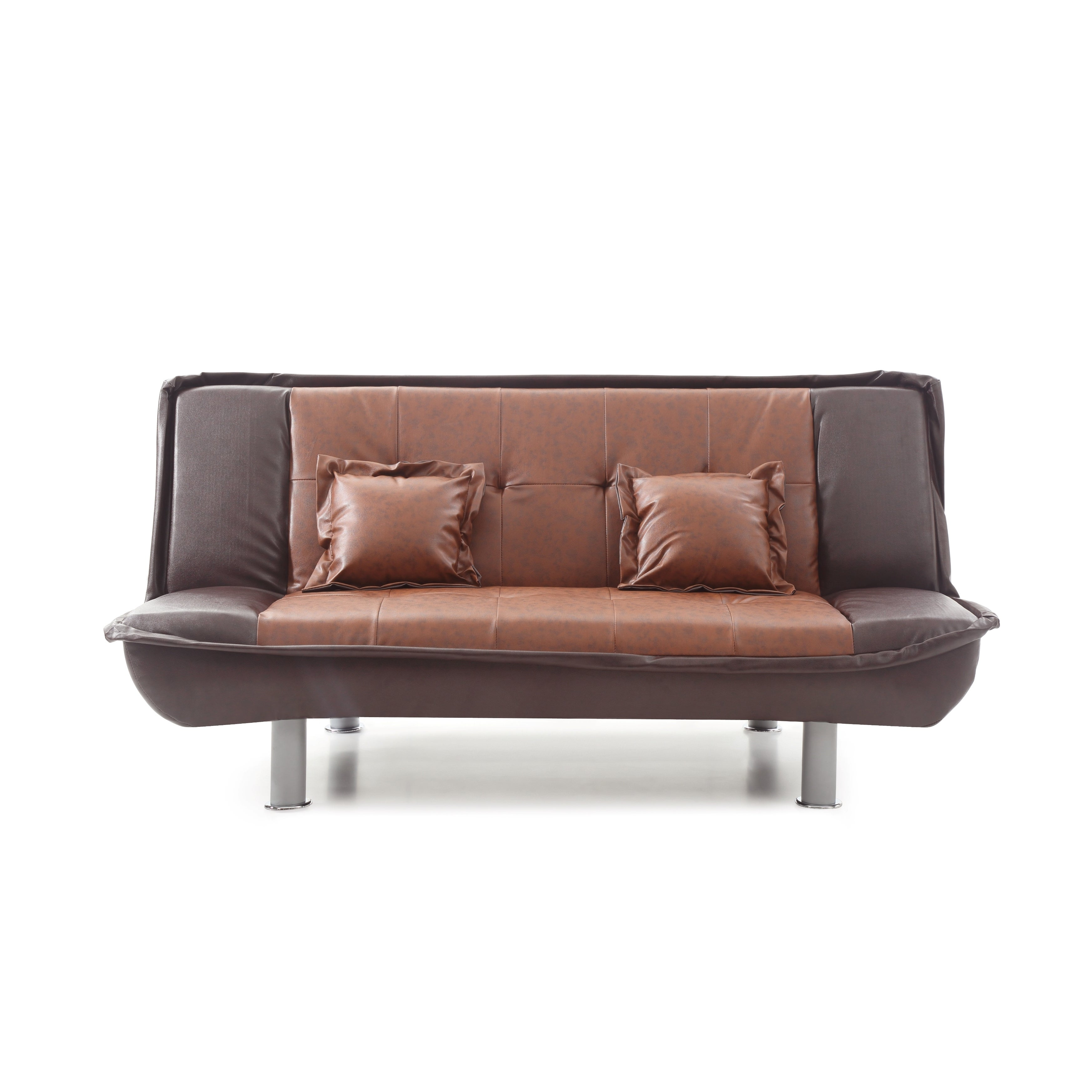 Lyke Home 2 Tone Faux Leather Sofa Bed Free Shipping Today 22361448