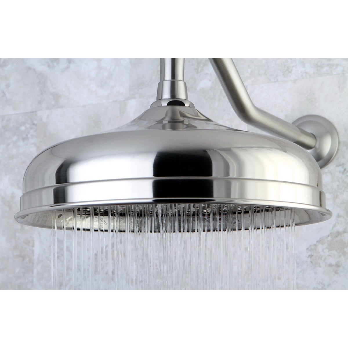 Shop Victorian Satin Nickel 10 Inch Raindrop Showerhead   Free Shipping  Today   Overstock.com   1596374