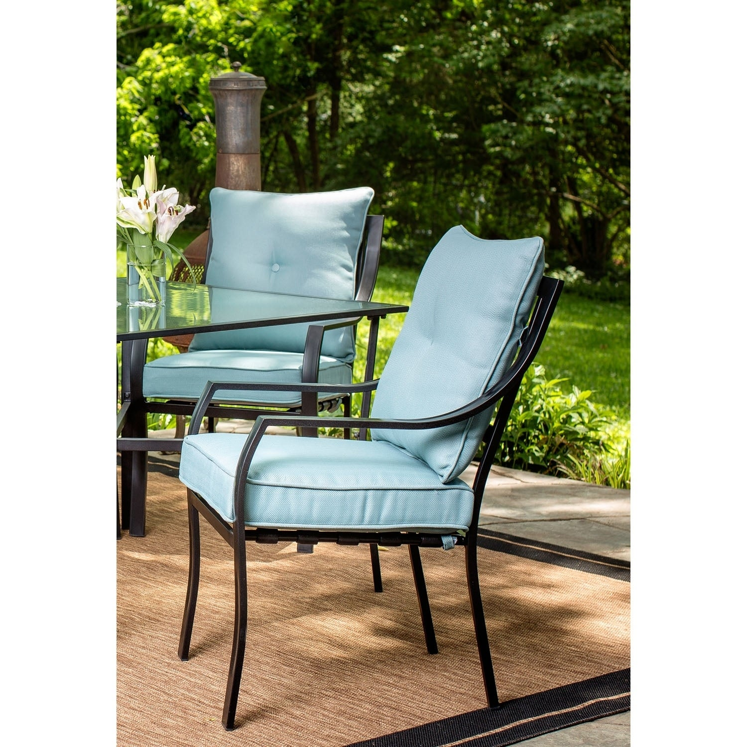 9b2b466f587 Shop Hanover Lavallette 7-Piece Outdoor Dining Set in Ocean Blue - Free  Shipping Today - Overstock - 15963947