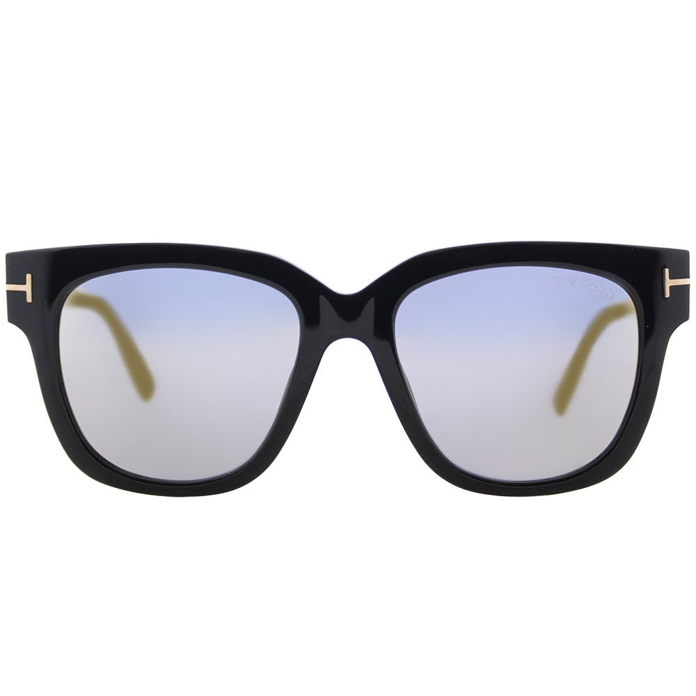 c162e52724a1 Shop Tom Ford Women s TF 436 01C Tracy Shiny Black Plastic Gold Mirror Lens Square  Sunglasses - Free Shipping Today - Overstock - 15970152