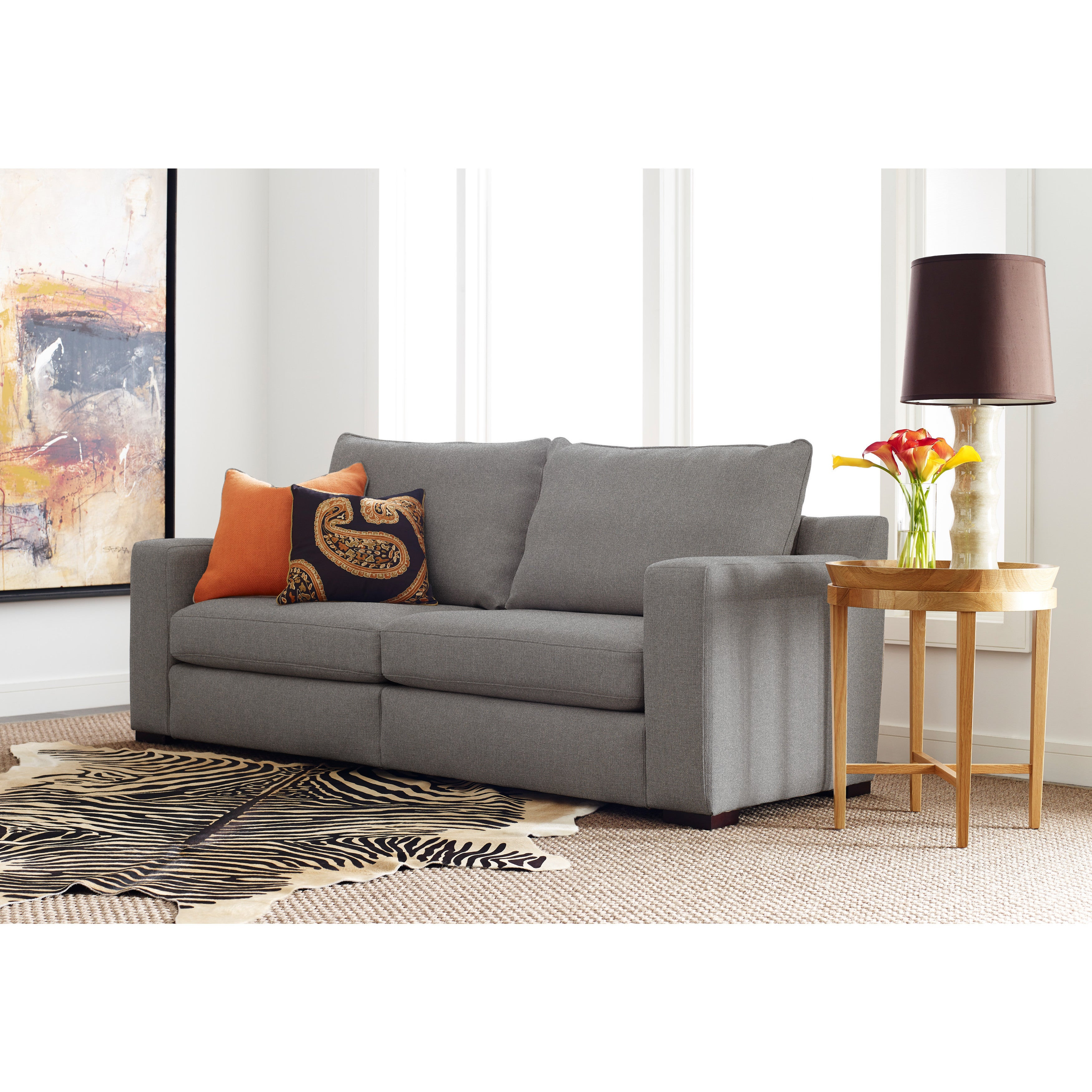 Serta Deep Seating Geneva 85 Inch Grey Sofa
