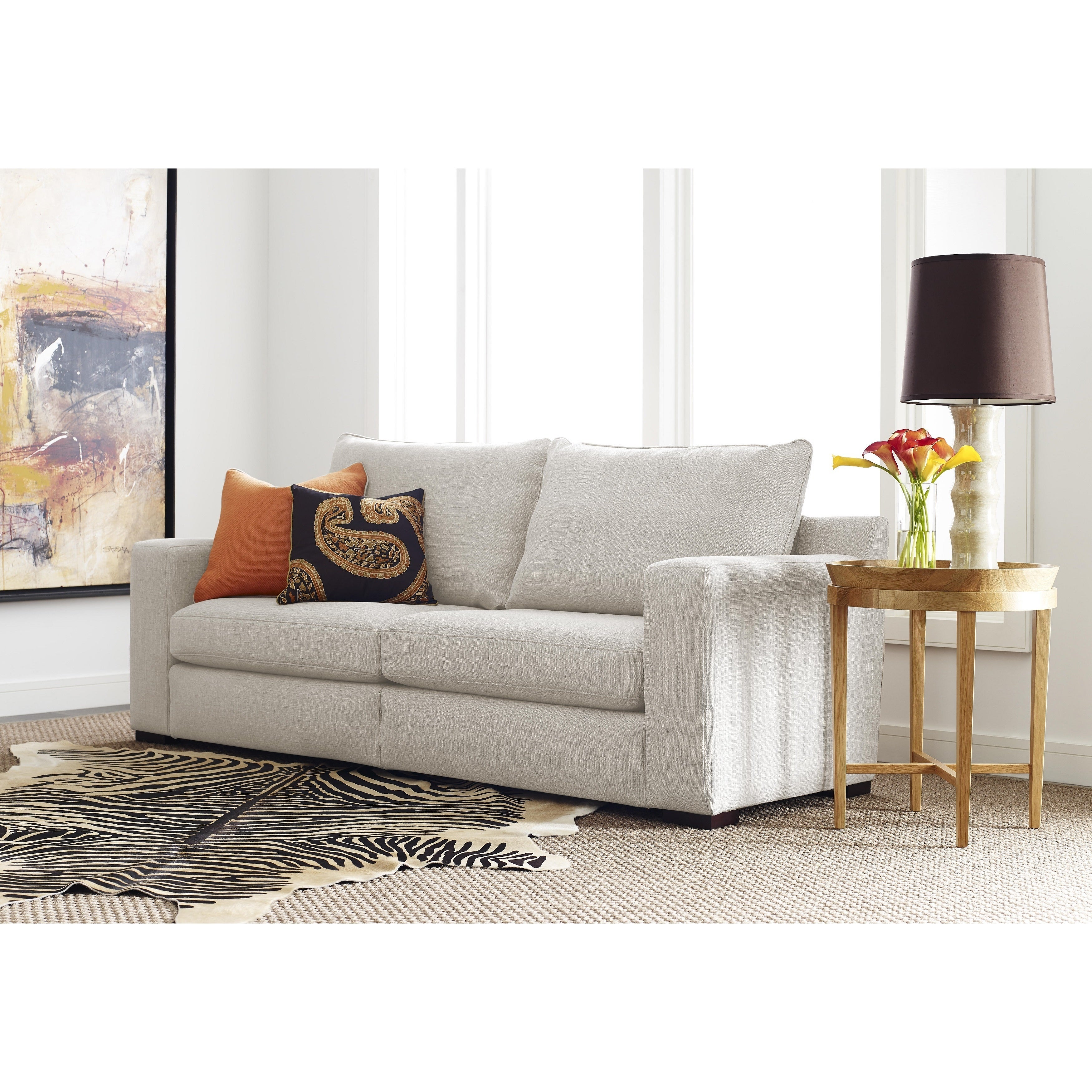 Serta Deep Seating Geneva 85-inch Grey Sofa - Free Shipping Today ...