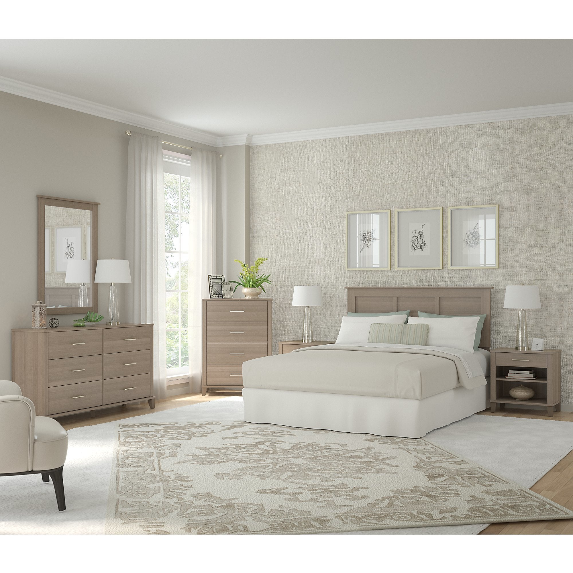 Somerset Ash Grey 6-piece Bedroom Set - Free Shipping Today ...