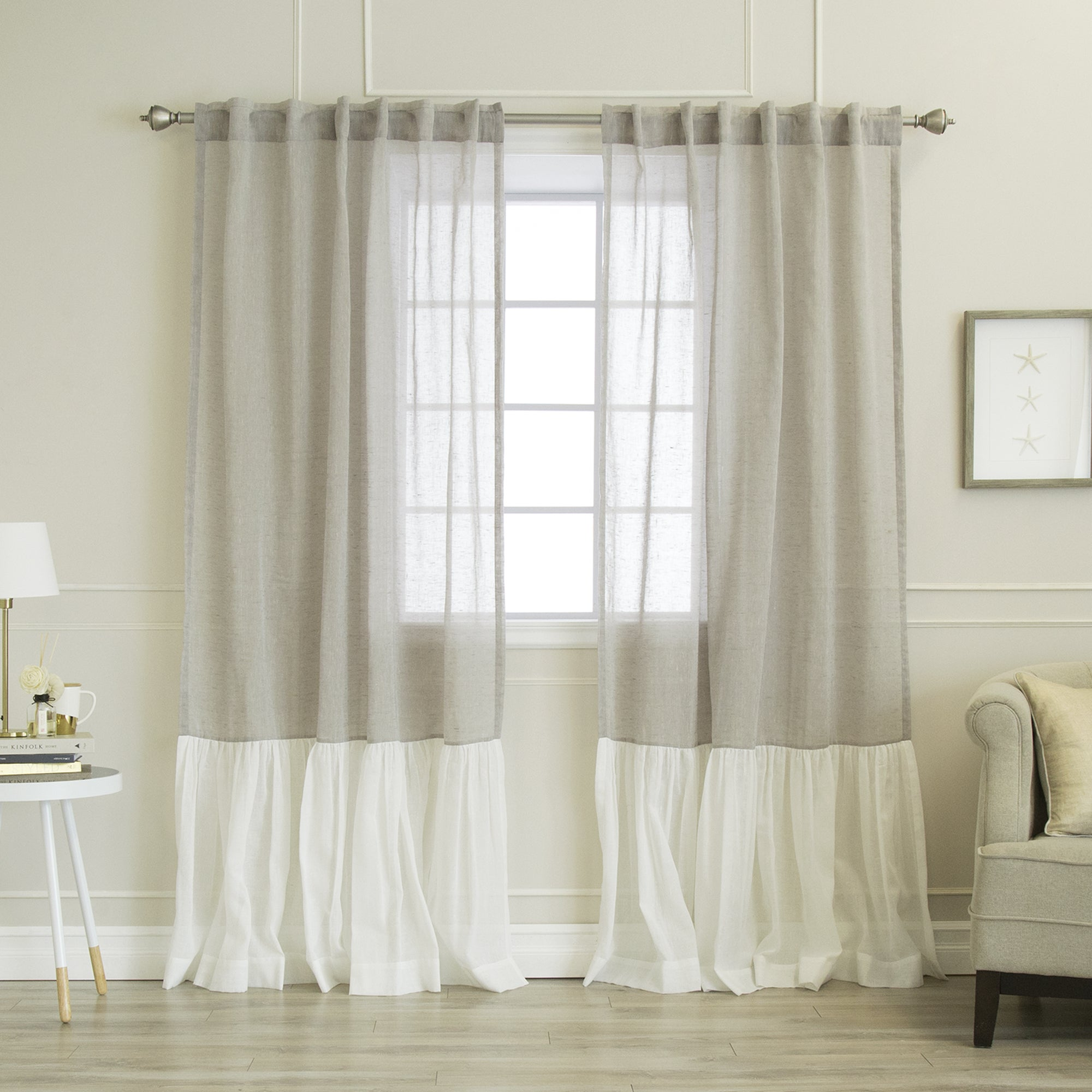 layered ruffle inch shabby home com lorraine panel gypsy amazon chic fashions curtains window dp curtain pink kitchen by