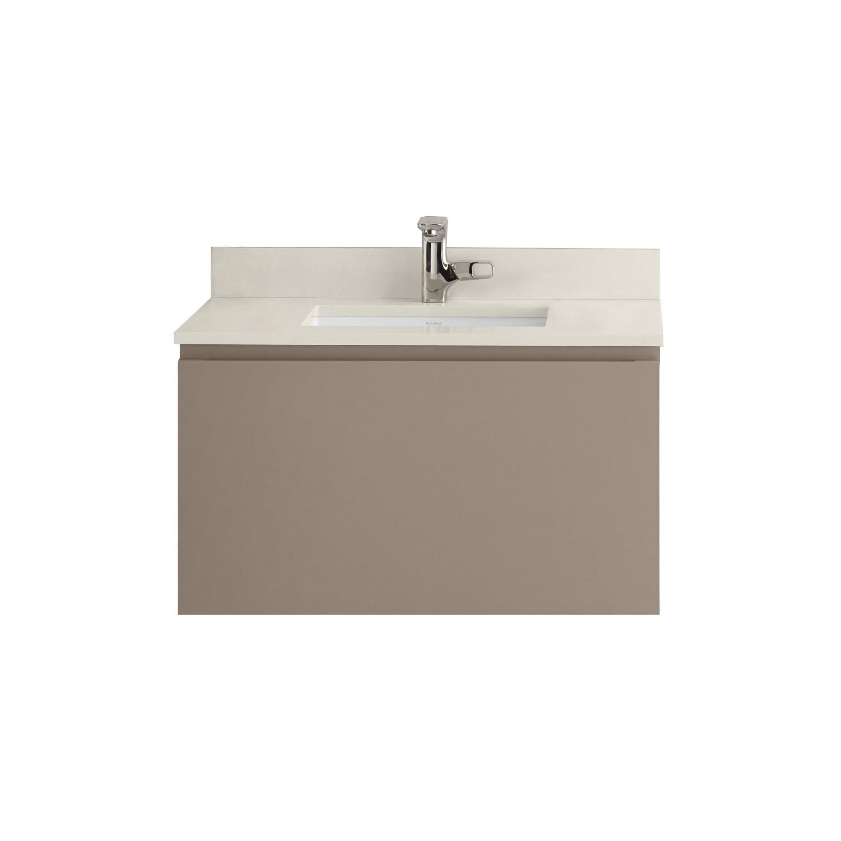 Shop ronbow ariella grey wood ceramic 32 inch bathroom vanity set free shipping today overstock com 15974824