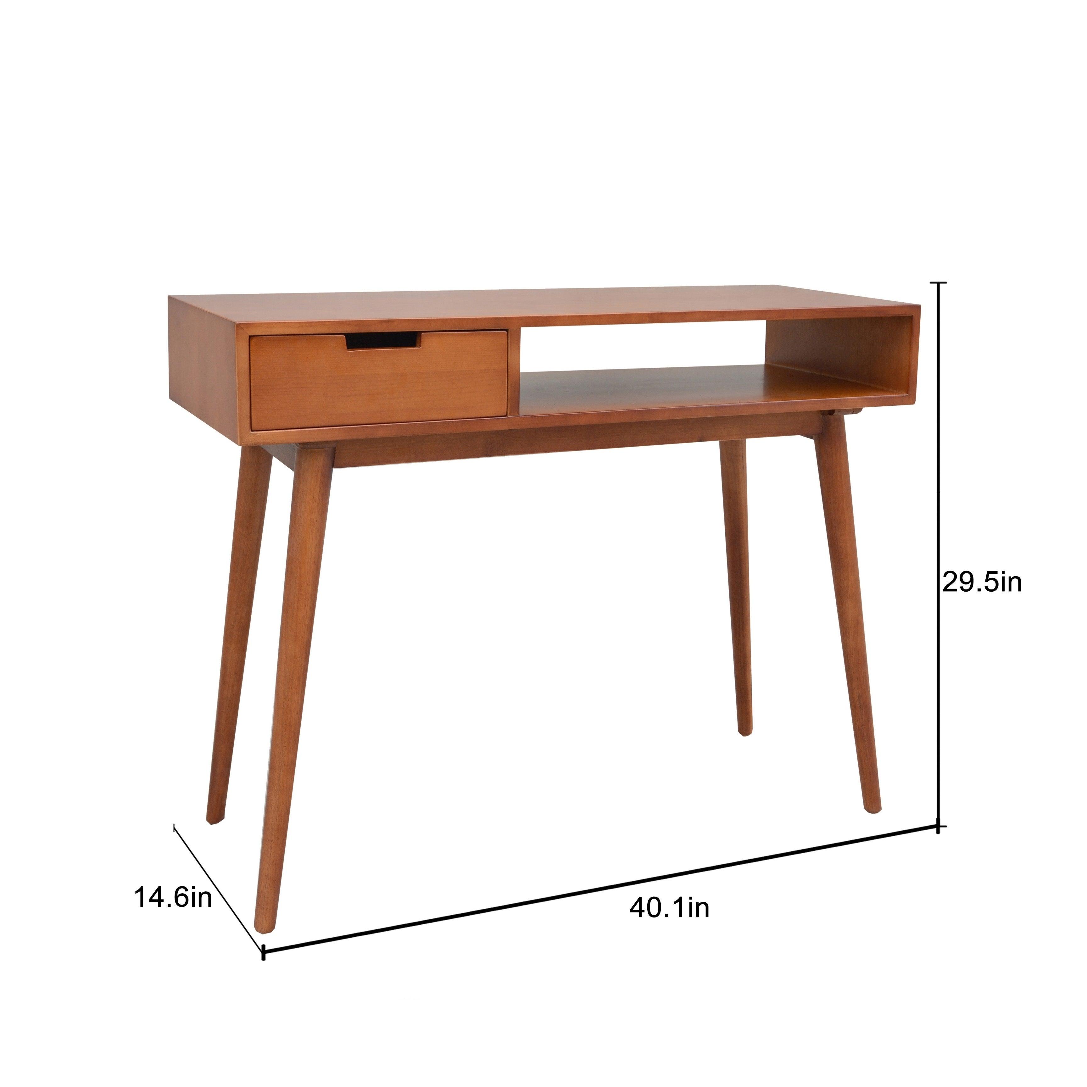 Shop Porthos Home Aceline Mid-Century Console Table - On Sale - Free ...