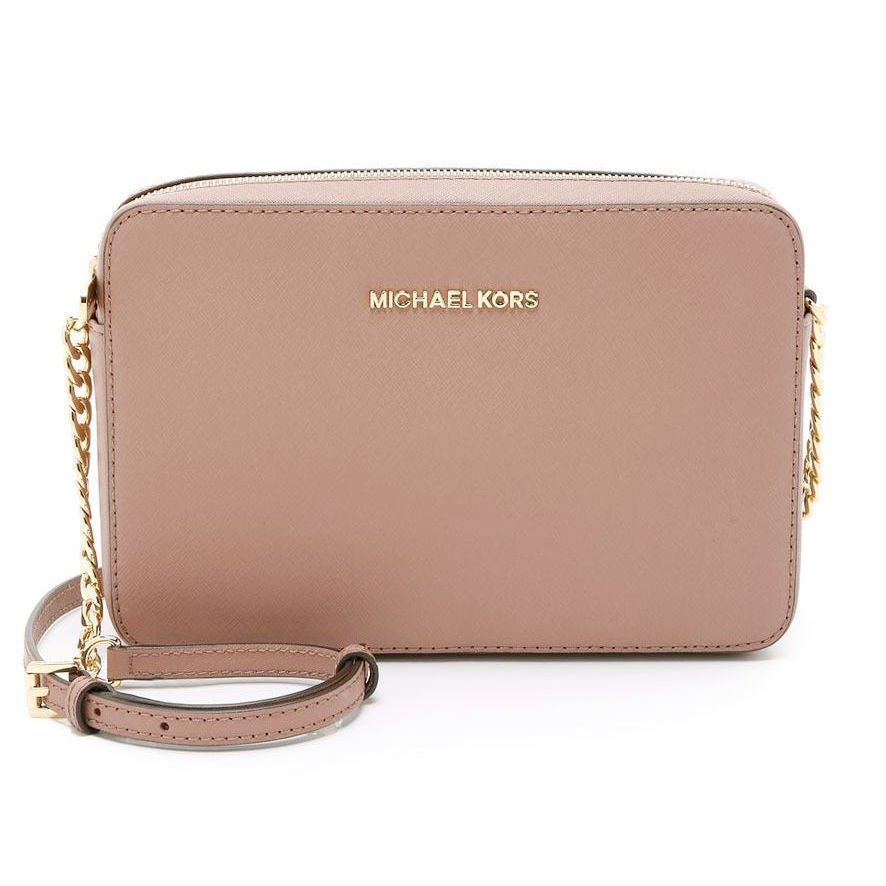 4ccfbe3b733a3 Shop Michael Kors Jet Set Saffiano Soft Pink Fawn Large Travel Crossbody Bag  - Free Shipping Today - Overstock - 15976167