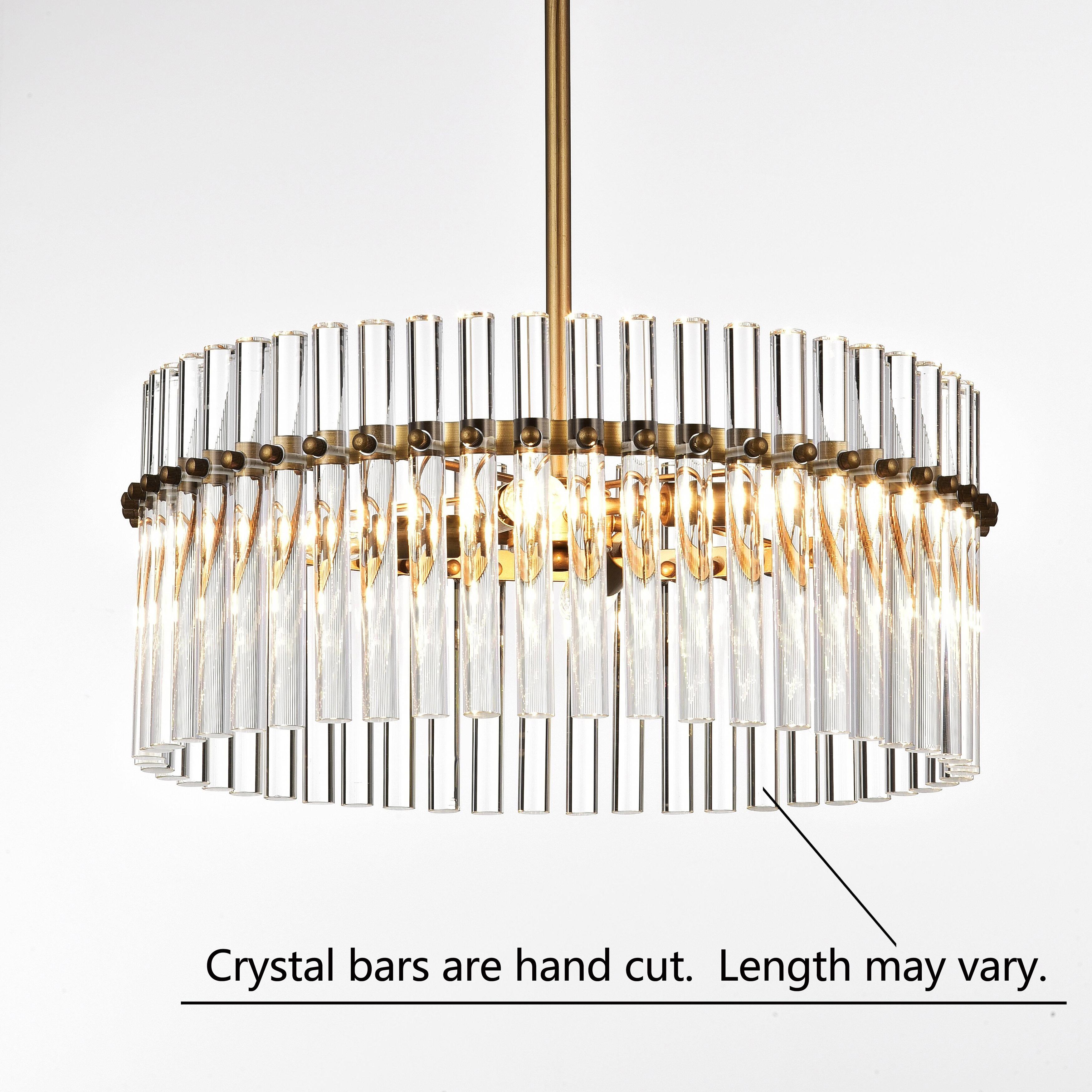 Casandra 4 light brushed brass pendant crystal chandelier free casandra 4 light brushed brass pendant crystal chandelier free shipping today overstock 22373626 arubaitofo Images