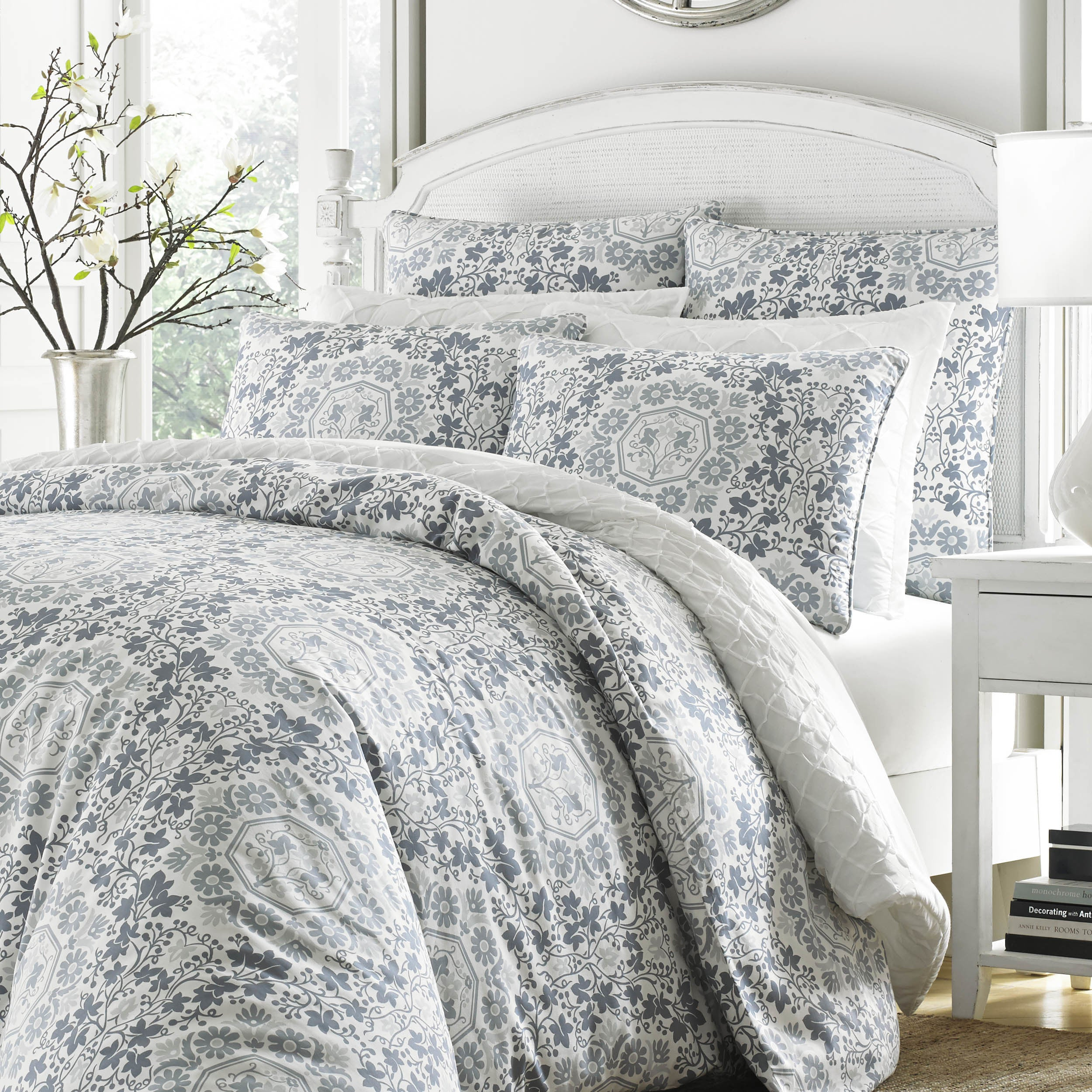 and gradient products lifestyle fredriksson soft comforter gray new blue cubes elisabeth