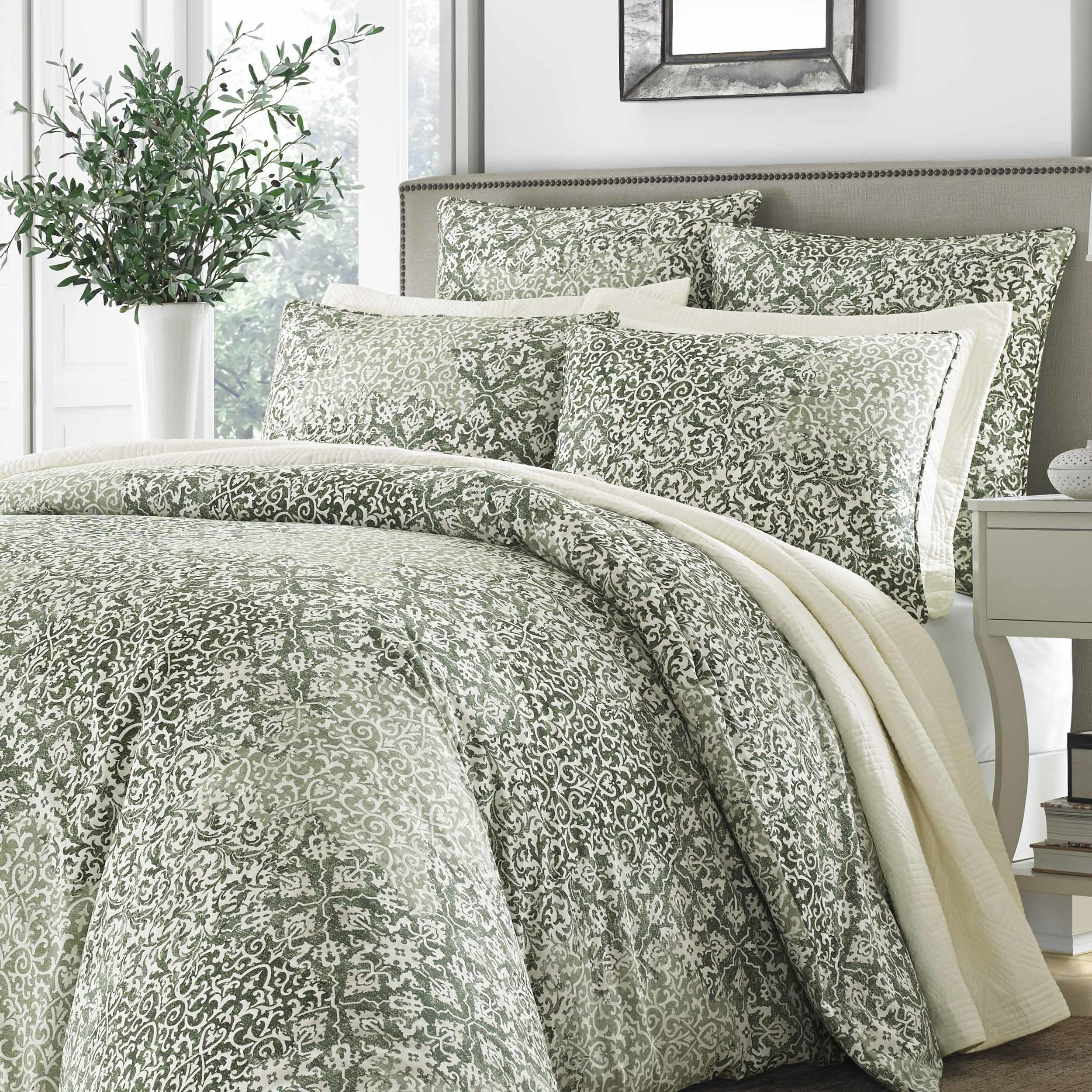 sets piece reviews comforter pdx co darby wayfair home set bath green lyndon bed