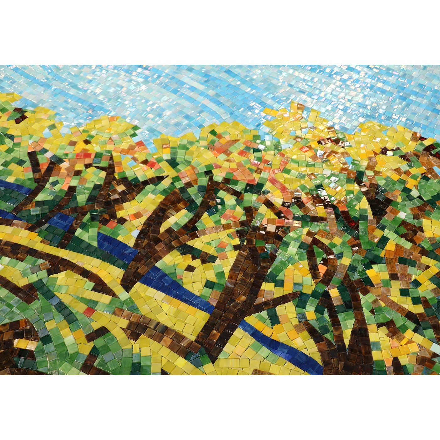 ANT Tile Customizable Falling Season Handmade Wall Murals Art Glass ...