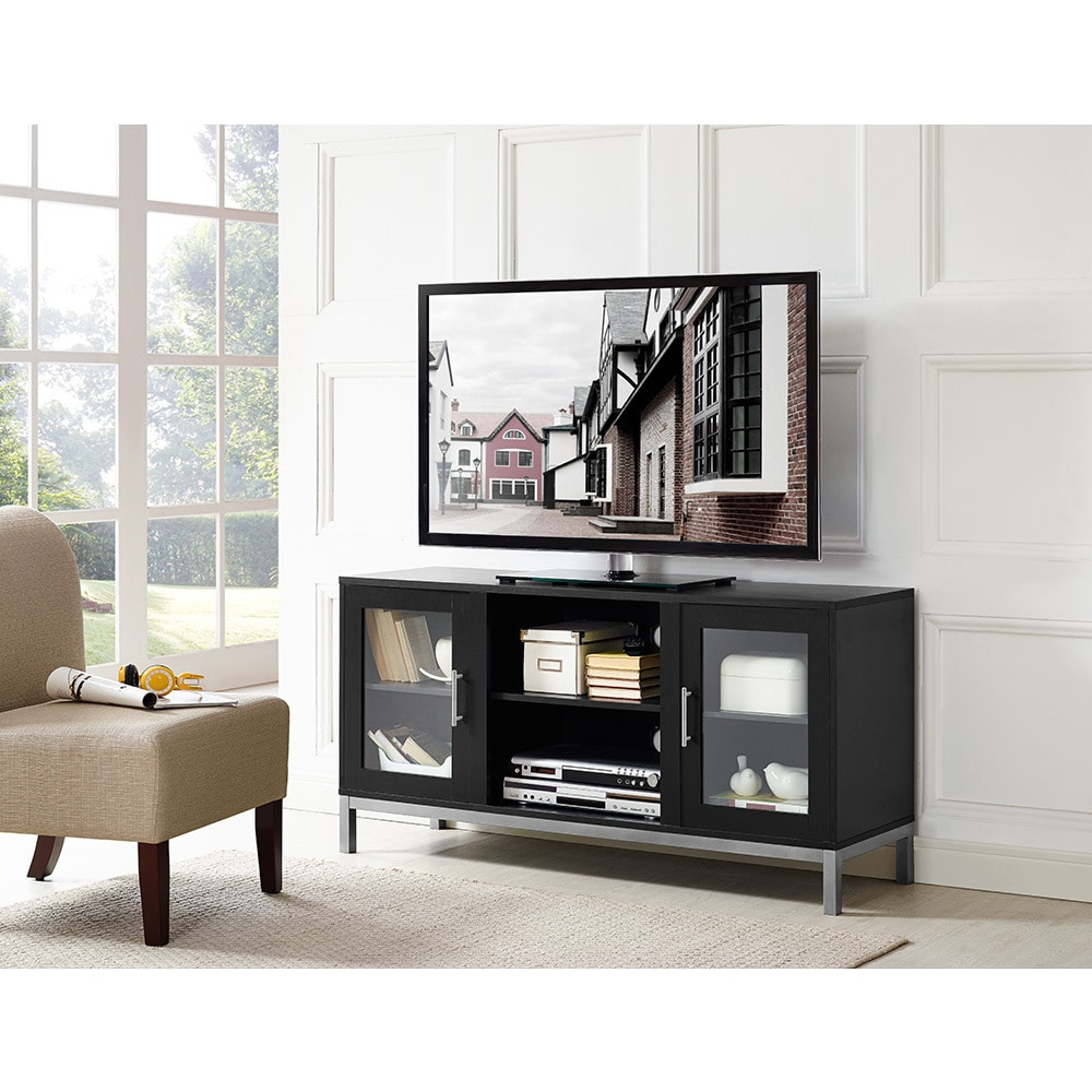 52-inch Avenue Wood TV Console with Metal Legs - Free Shipping Today ...