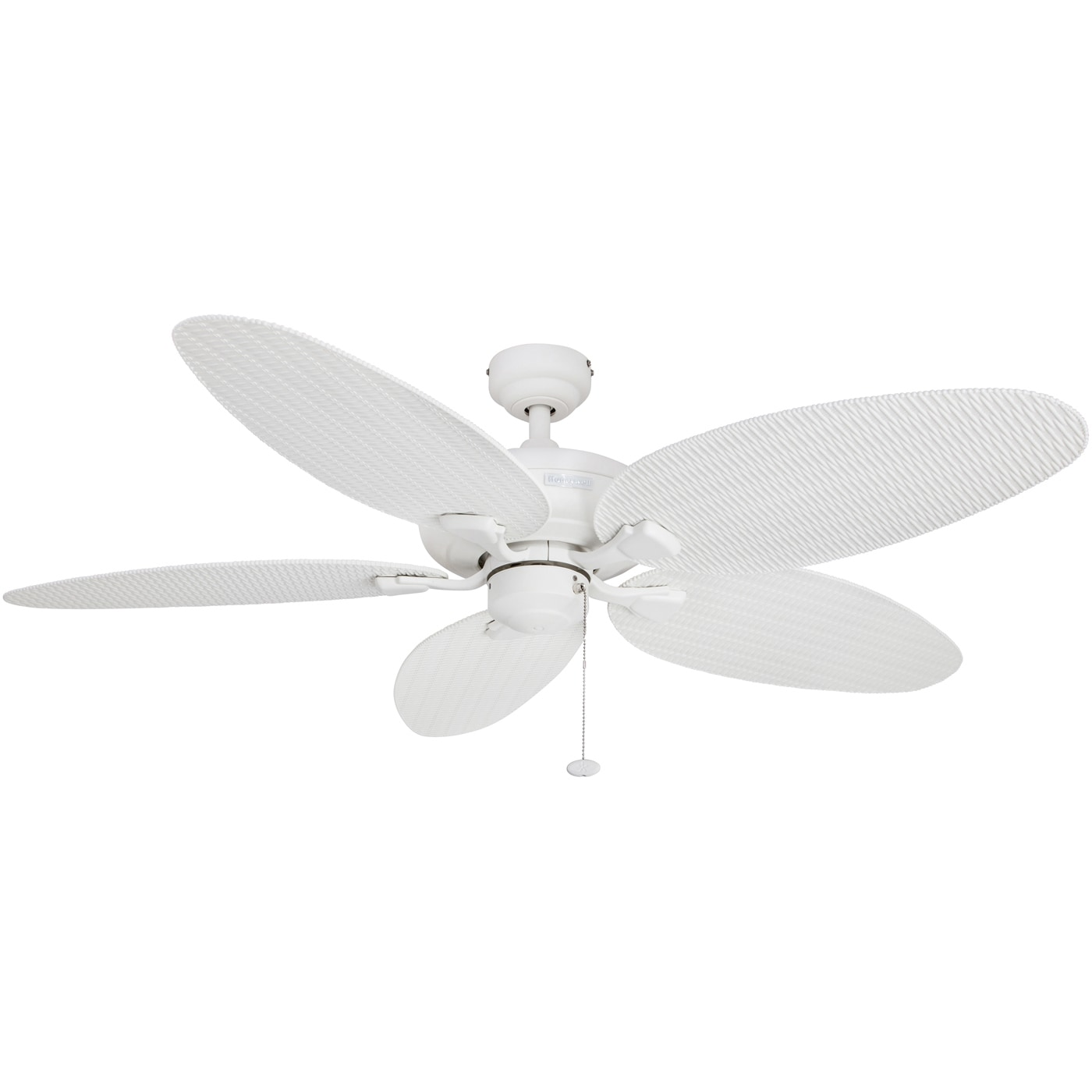 """52"""" Honeywell Duval White Indoor Outdoor Ceiling Fan with Wicker"""