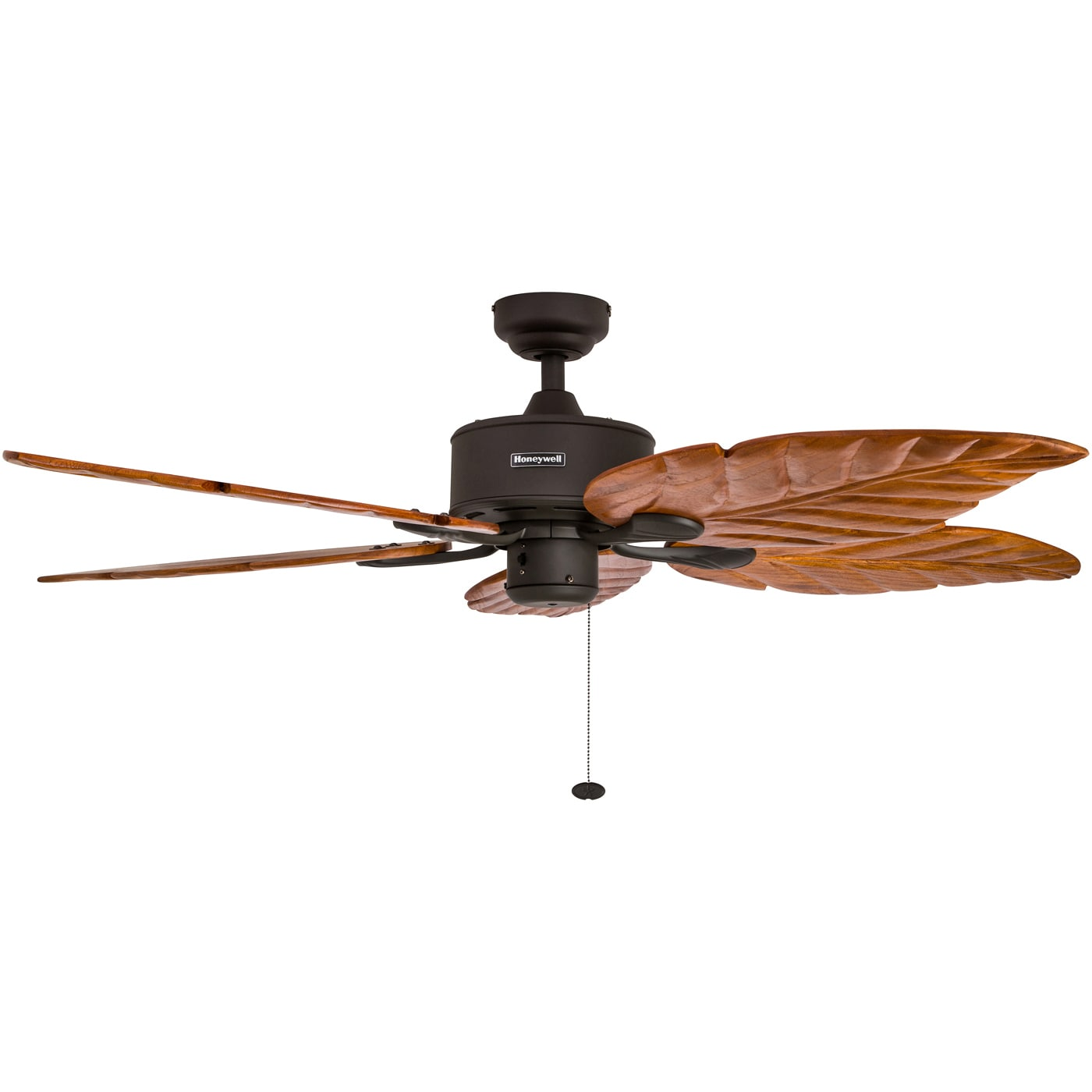"52"" Honeywell Sabal Palm Bronze Ceiling Fan with Bowl Light and"