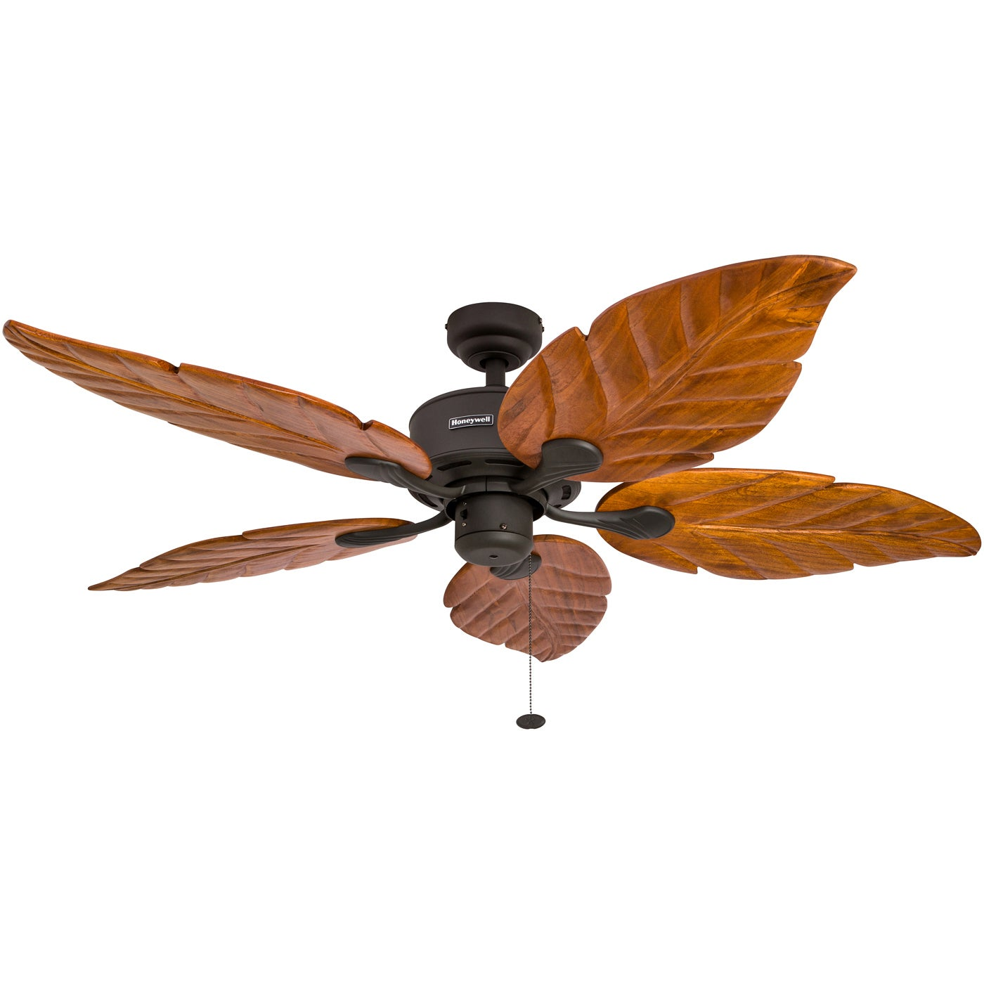 52 Honeywell Sabal Palm Bronze Ceiling Fan With Bowl Light And Carved Wood Blades Free Shipping Today 16000032