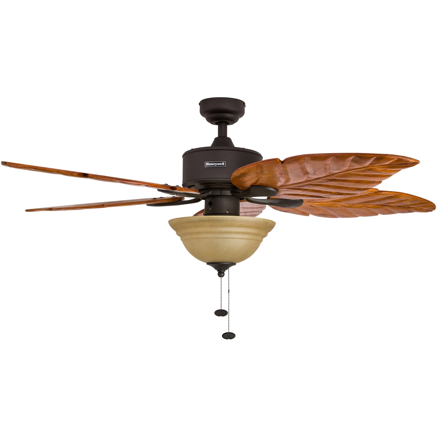 Honeywell Sabal Palm 52_inch Bronze Finish Ceiling Fan With Tuscan Bowl  Light And Carved Wood Blades   Free Shipping Today   Overstock   22393890
